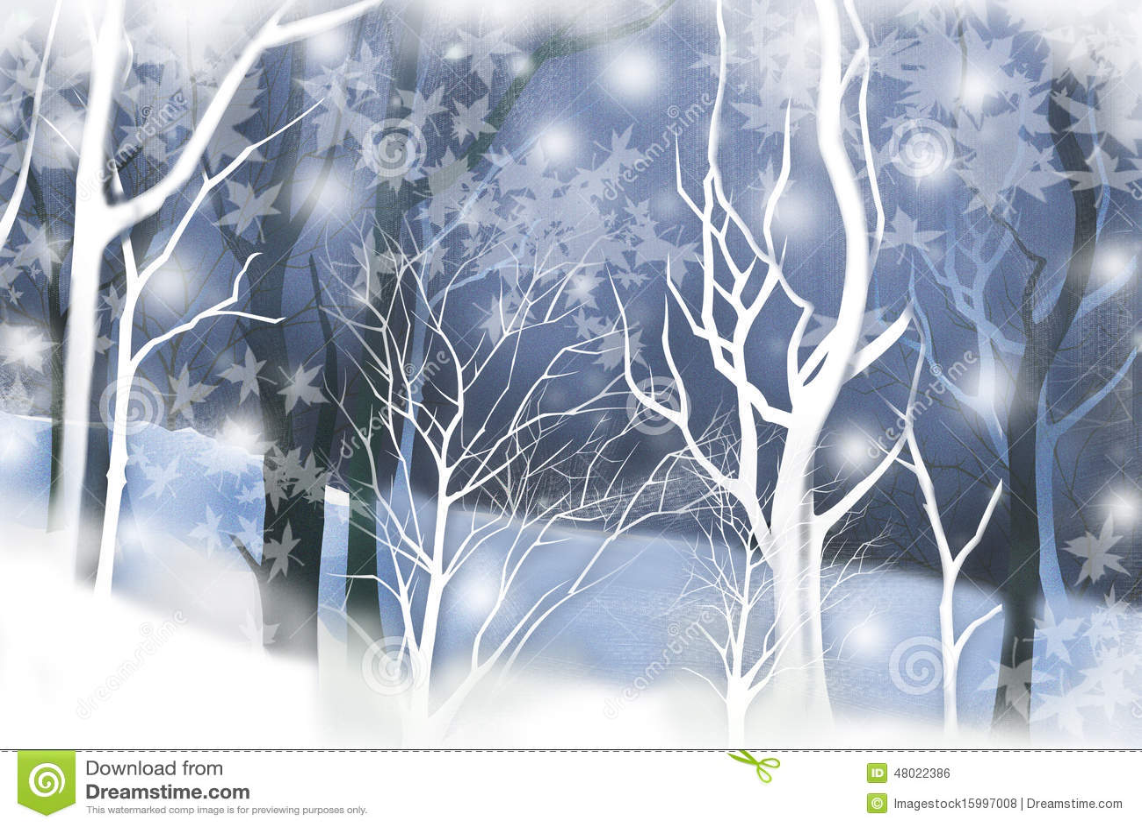 Paysage d hiver avec des bois tranquilles - texture graphique de