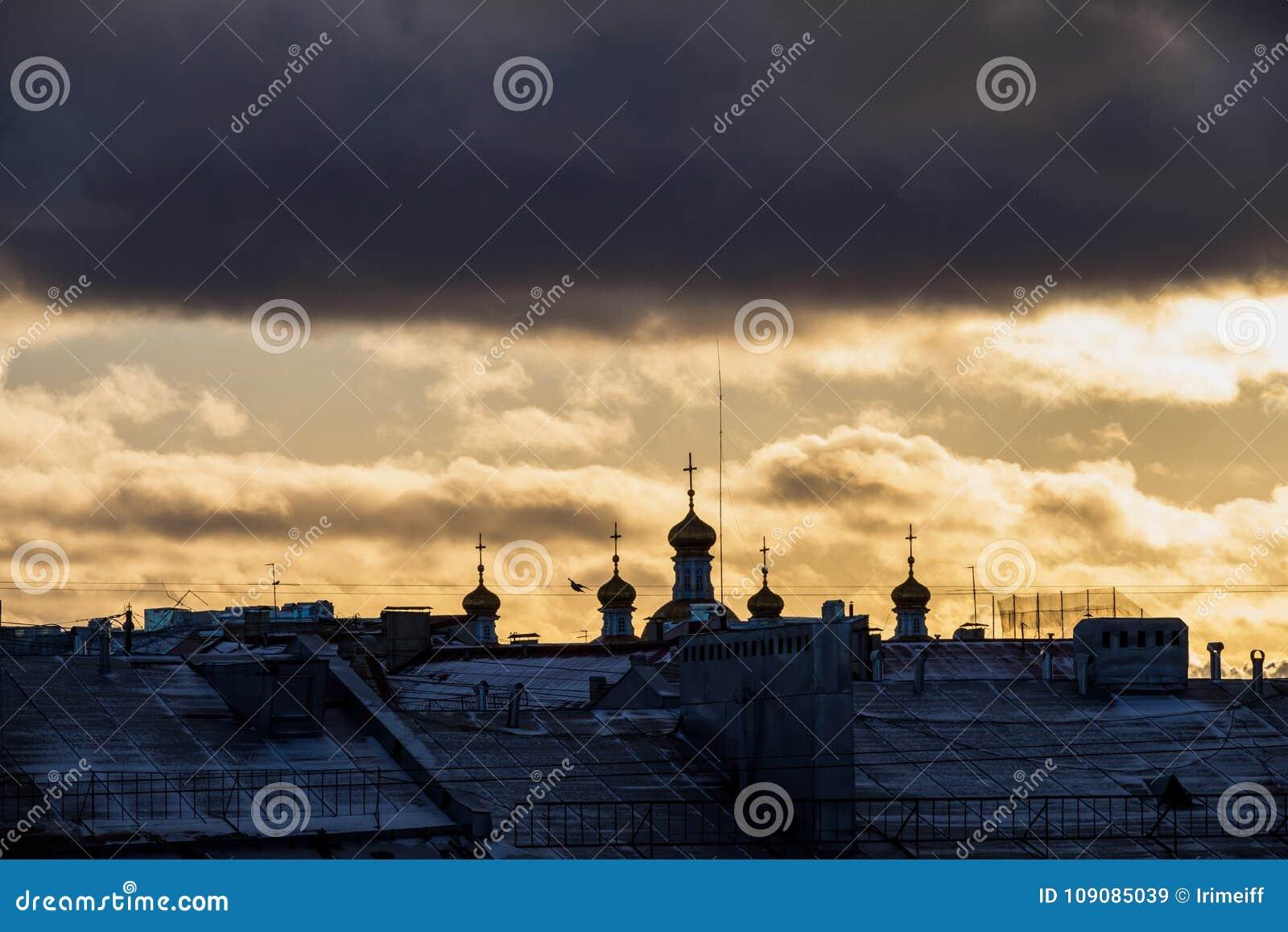 Paysage d hiver de Sankt-Peterburg