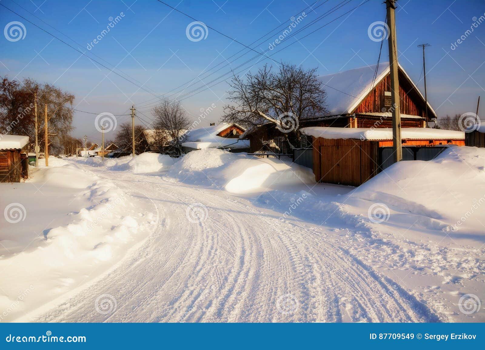 Paysage d hiver du village