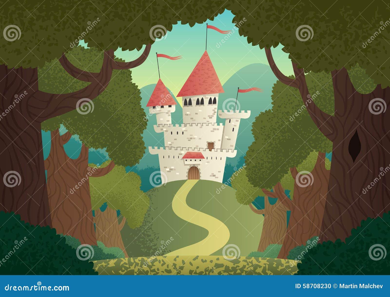 Paysage de château