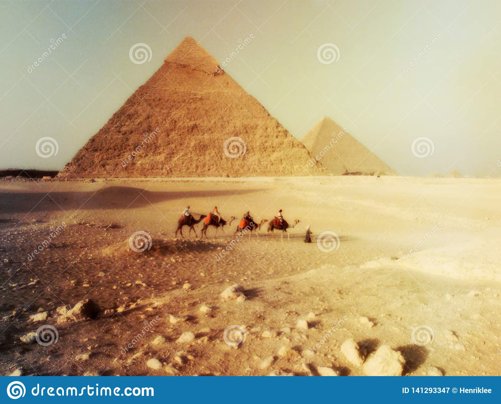 Paysage de désert du Sahara en Egypte