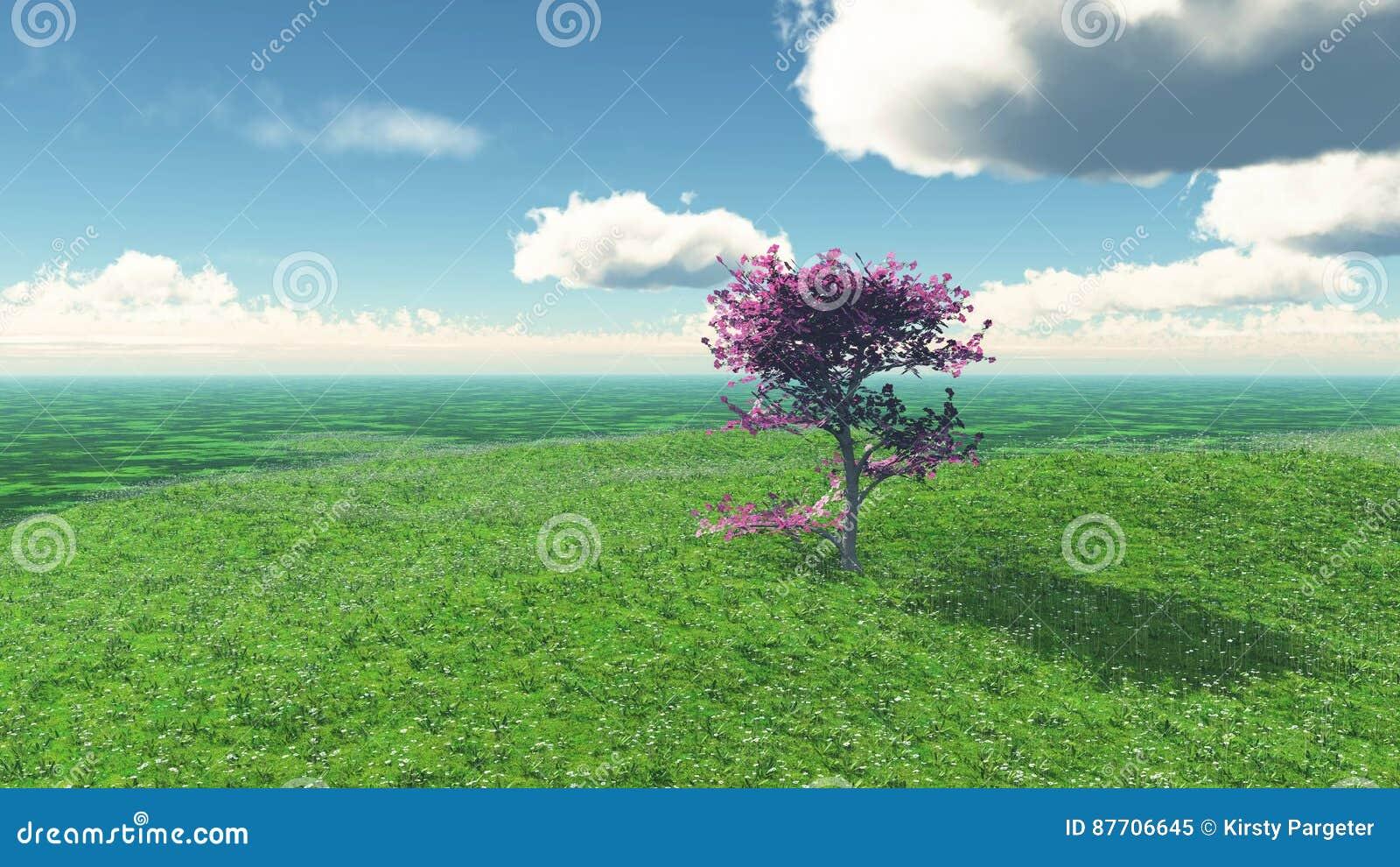 Paysage de l arbre 3D