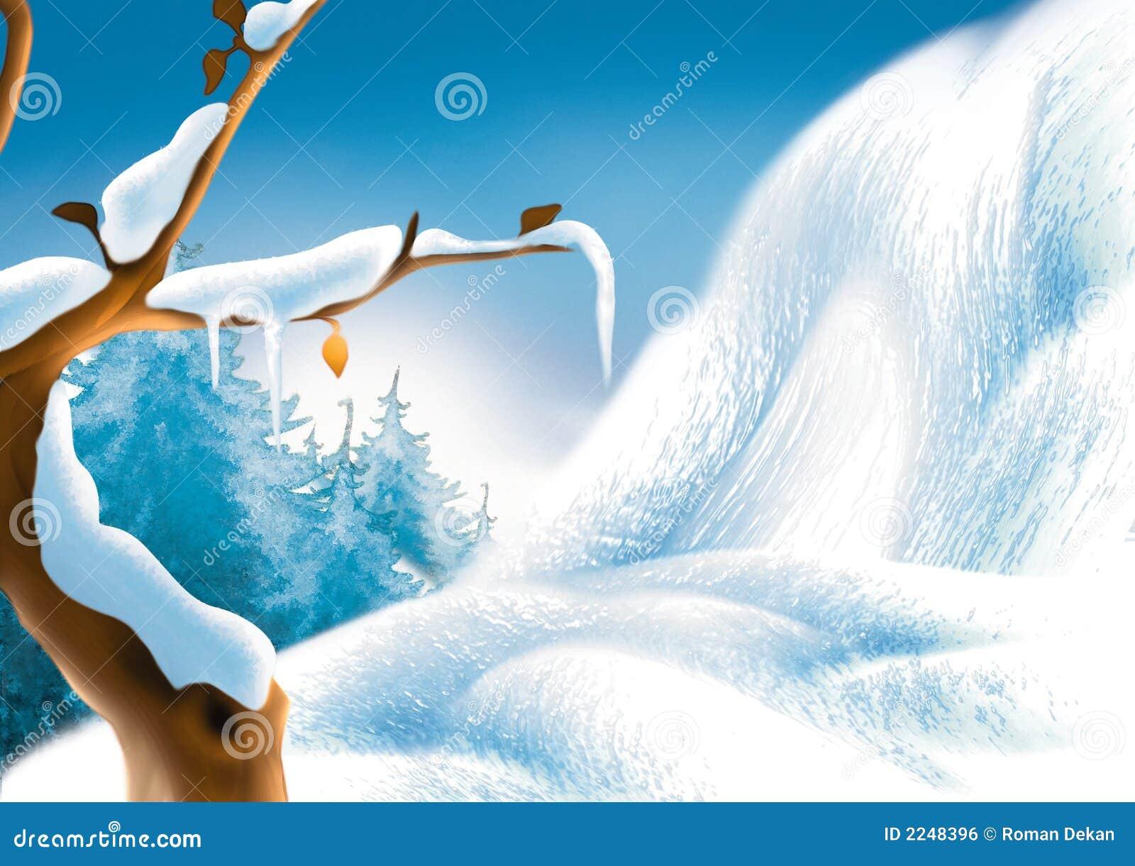 Paysage de l 39 hiver illustration stock illustration du no l 2248396 - Dessin de l hiver ...