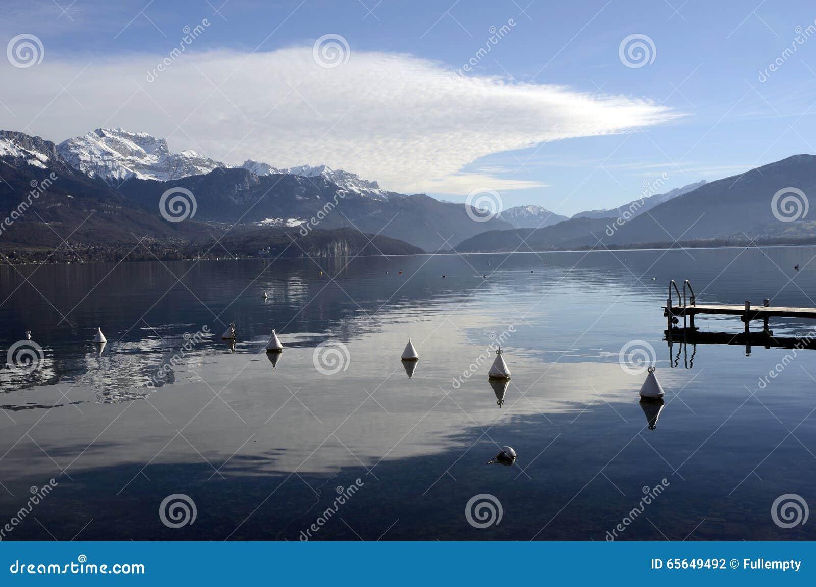 Paysage de lac annecy dans les Frances