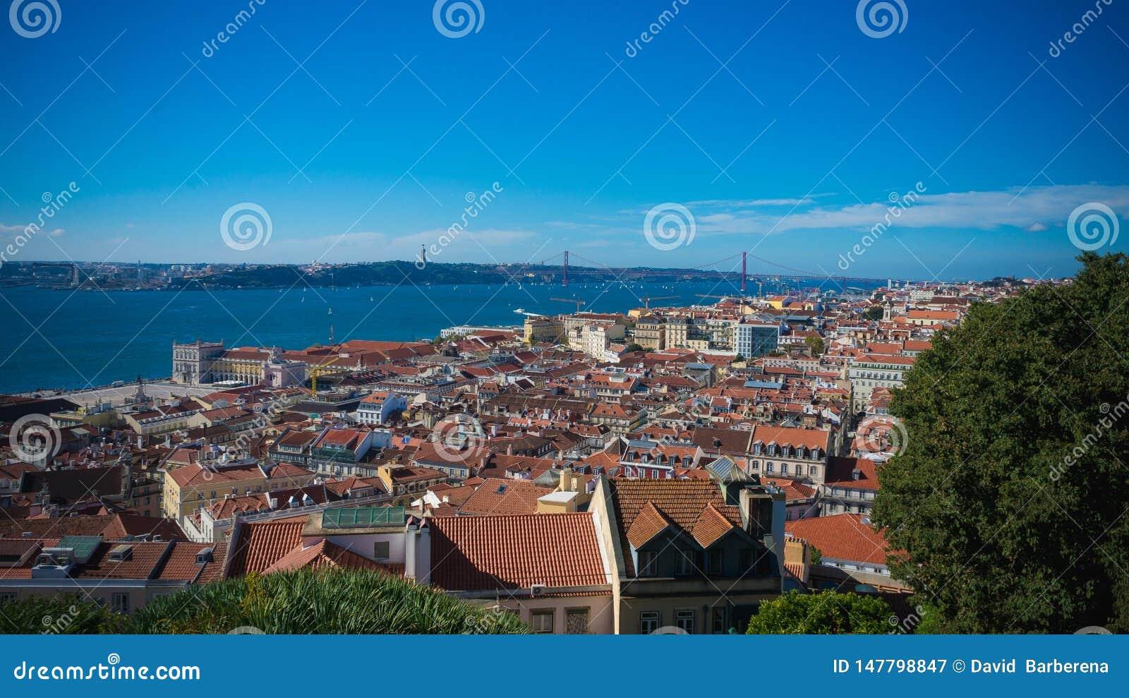 Paysage de Lisbonne Portugal dans le monde
