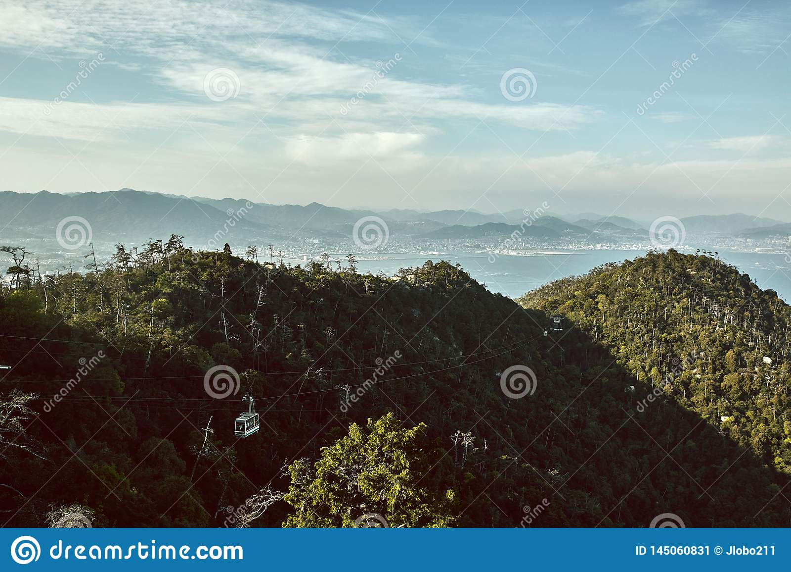 Paysage de Miyajima, Japon vu d en haut