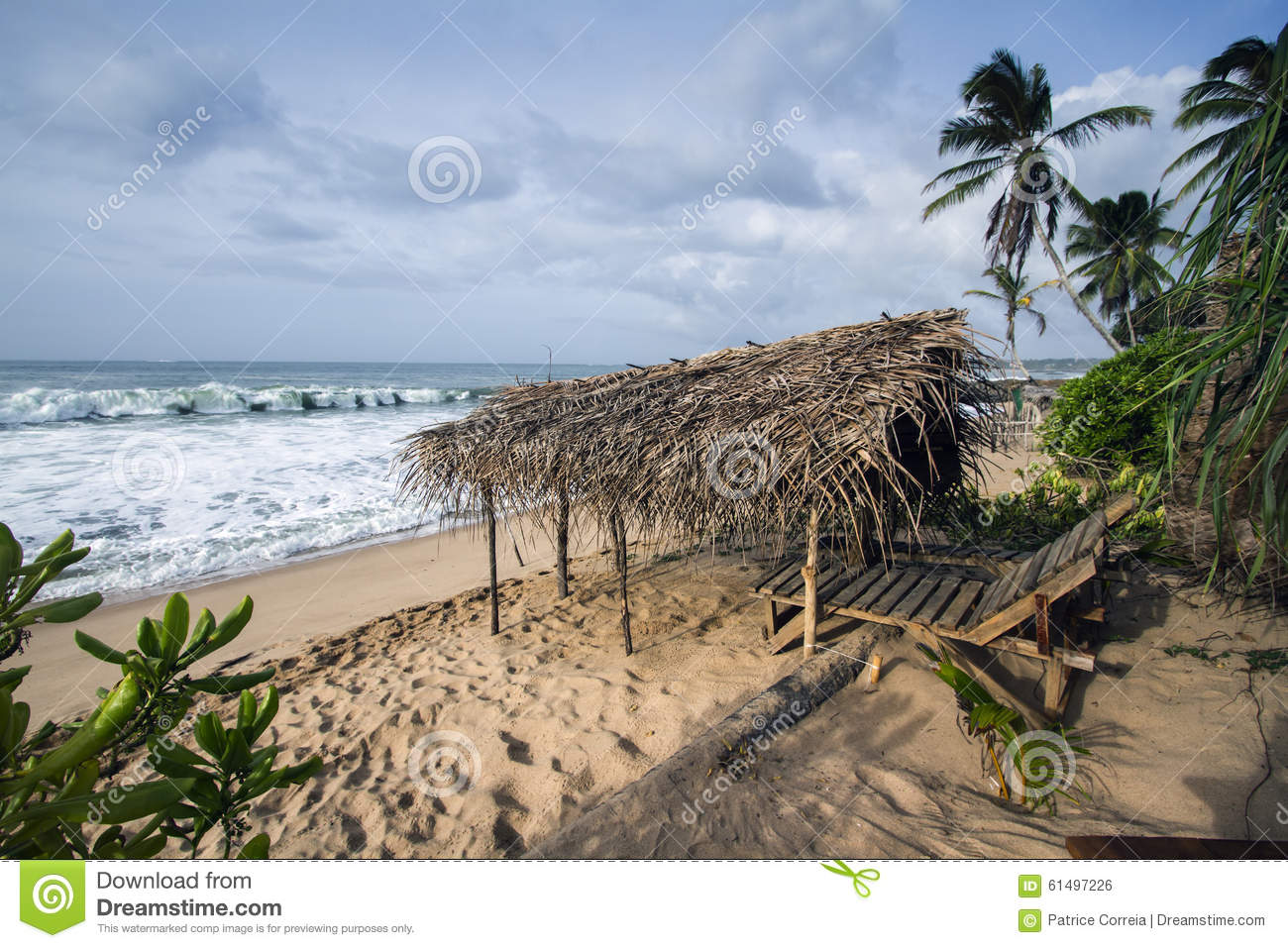 paysage de plage de tangalle sri lanka photo stock image du climate paradis 61497226. Black Bedroom Furniture Sets. Home Design Ideas