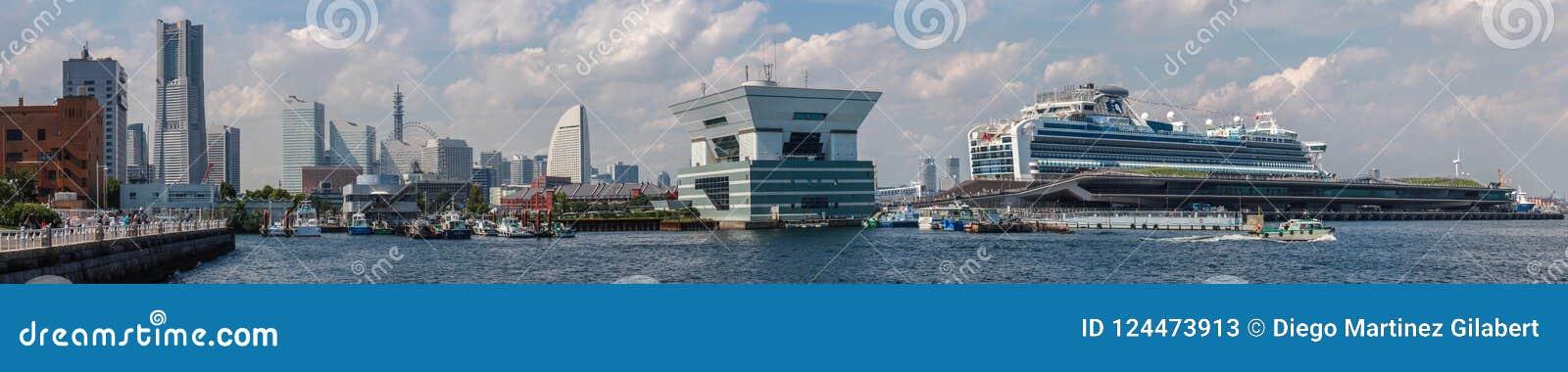 Paysage de port de Yokohama