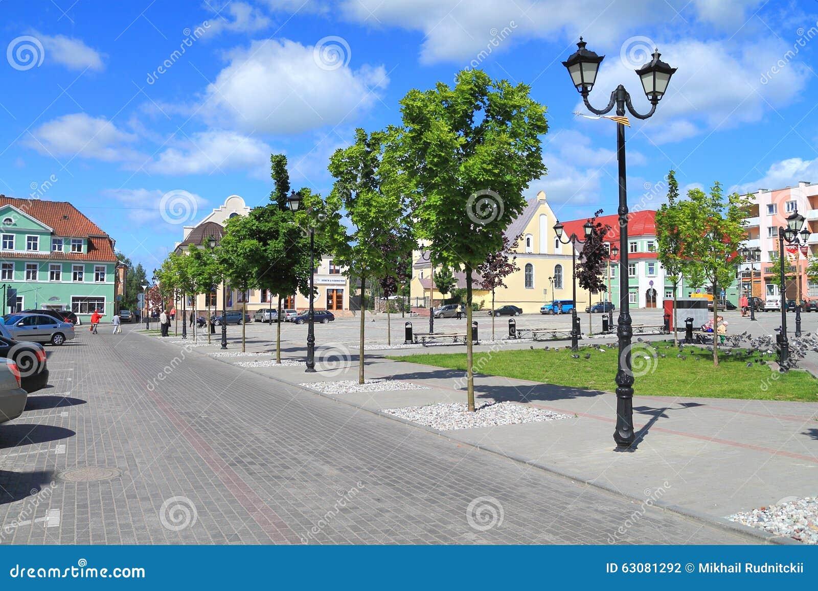 Download Paysage de ville d'été photographie éditorial. Image du horizontal - 63081292