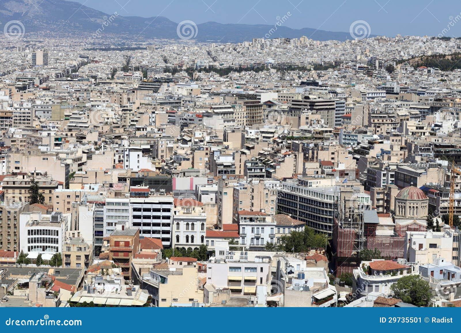 Paysage de ville d ath nes d acropole for Paysage de ville