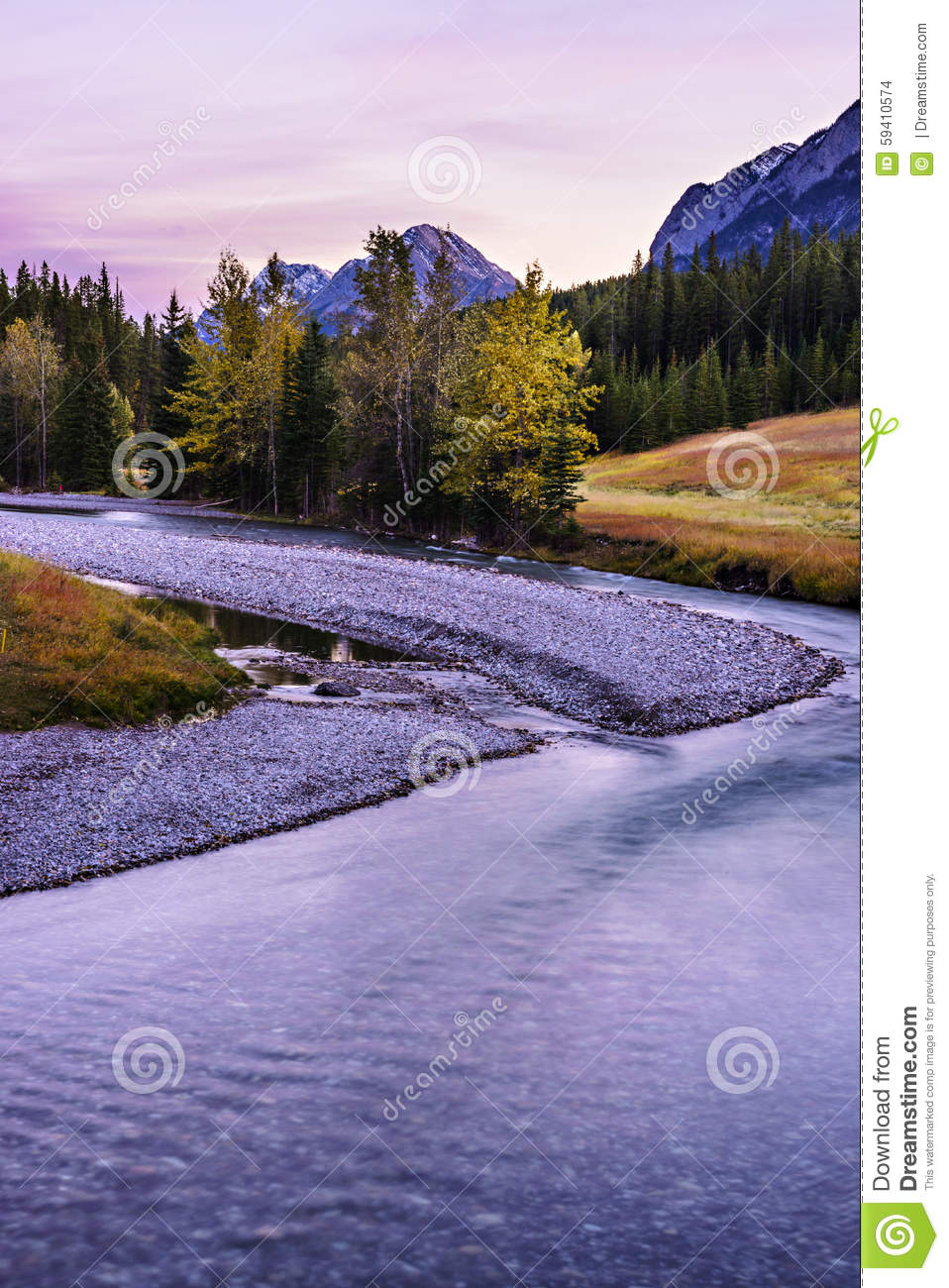 Paysage de ville de banff de canada photo stock image for Paysage de ville