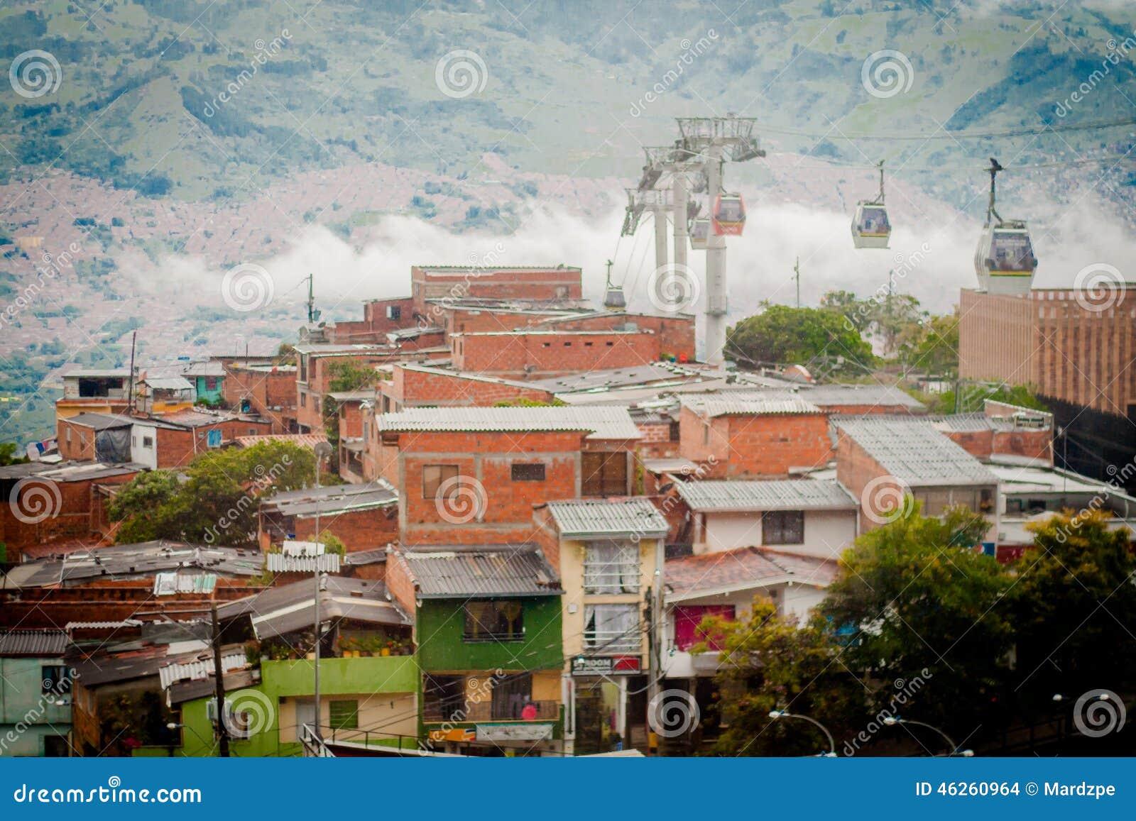 Paysage de ville de ropeway de gondole funiculaire de for Paysage de ville