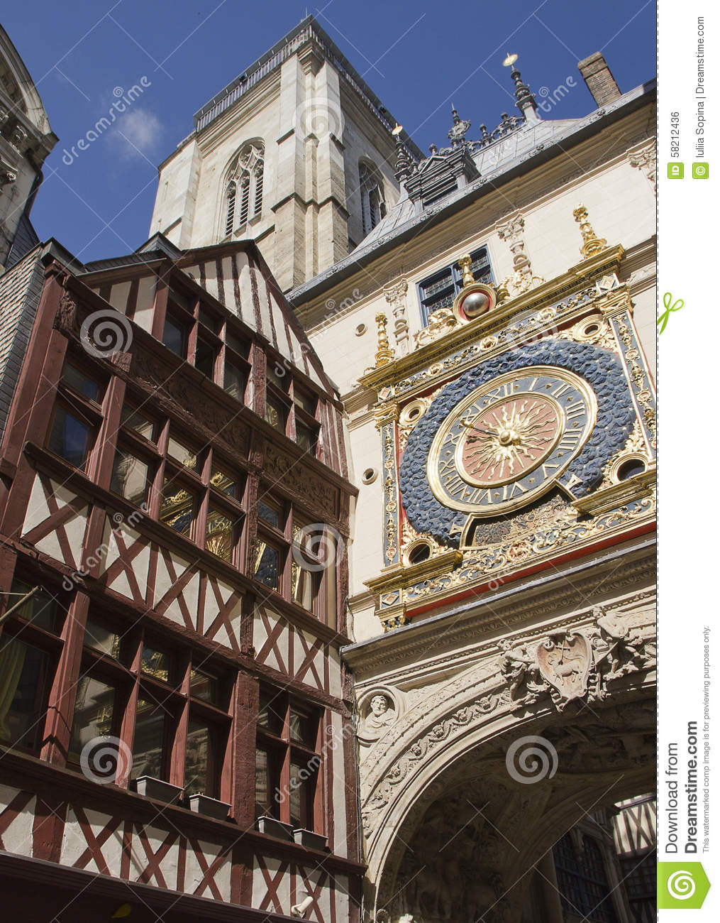 Paysage de ville en normandie photo stock image 58212436 for Paysage de ville