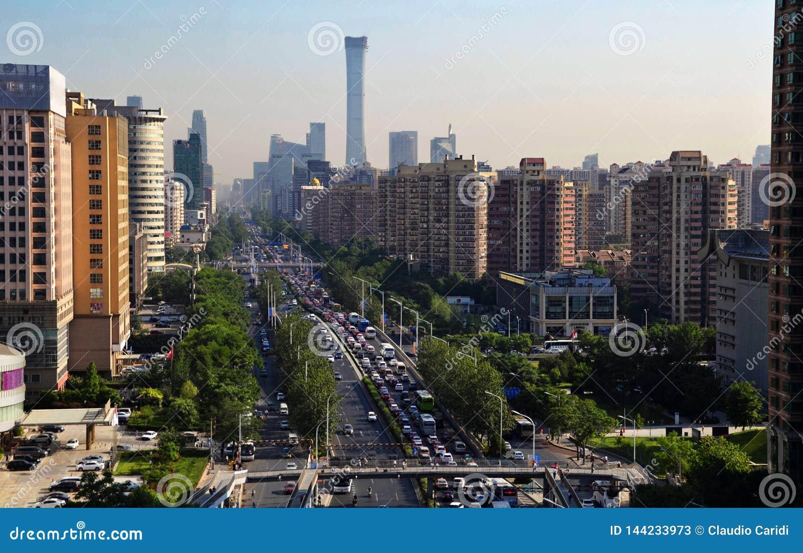 Paysage de ville moderne, P?kin, Chine