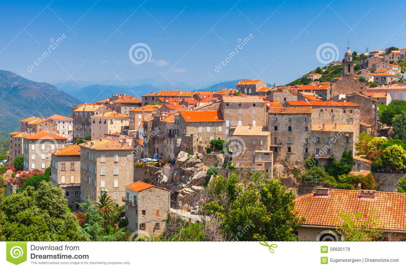 Paysage de ville sartene corse france photo stock for Paysage de ville