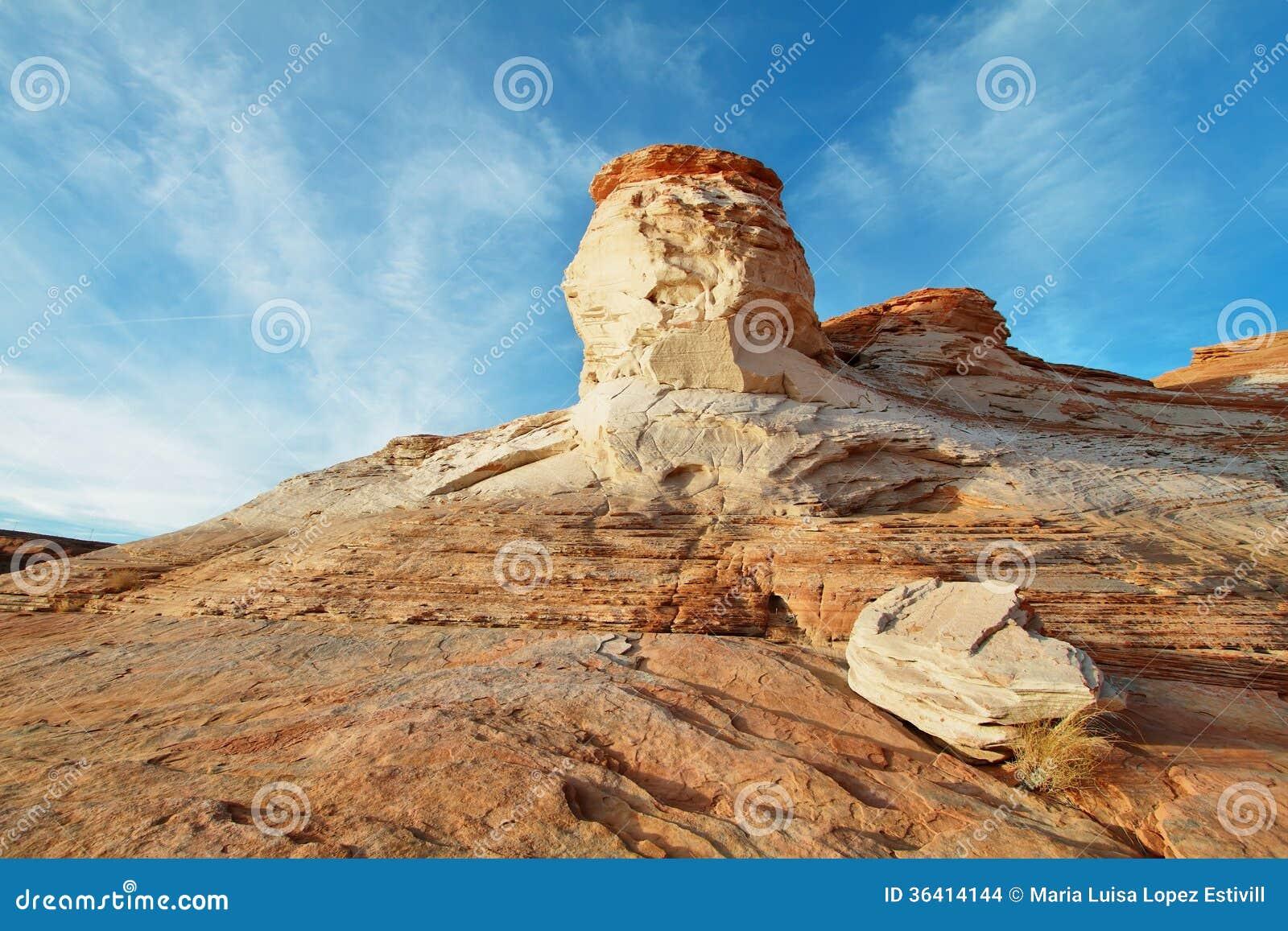 Paysage des roches de roulement dans le lac Powell