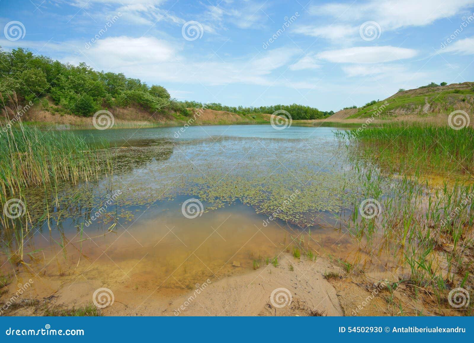 Paysage du lac bleu lagoon