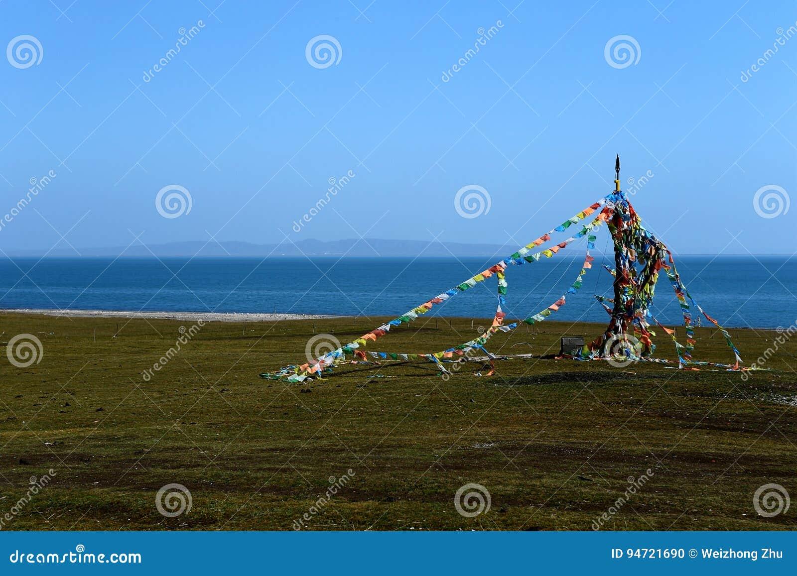 Paysage du Lac Qinghai