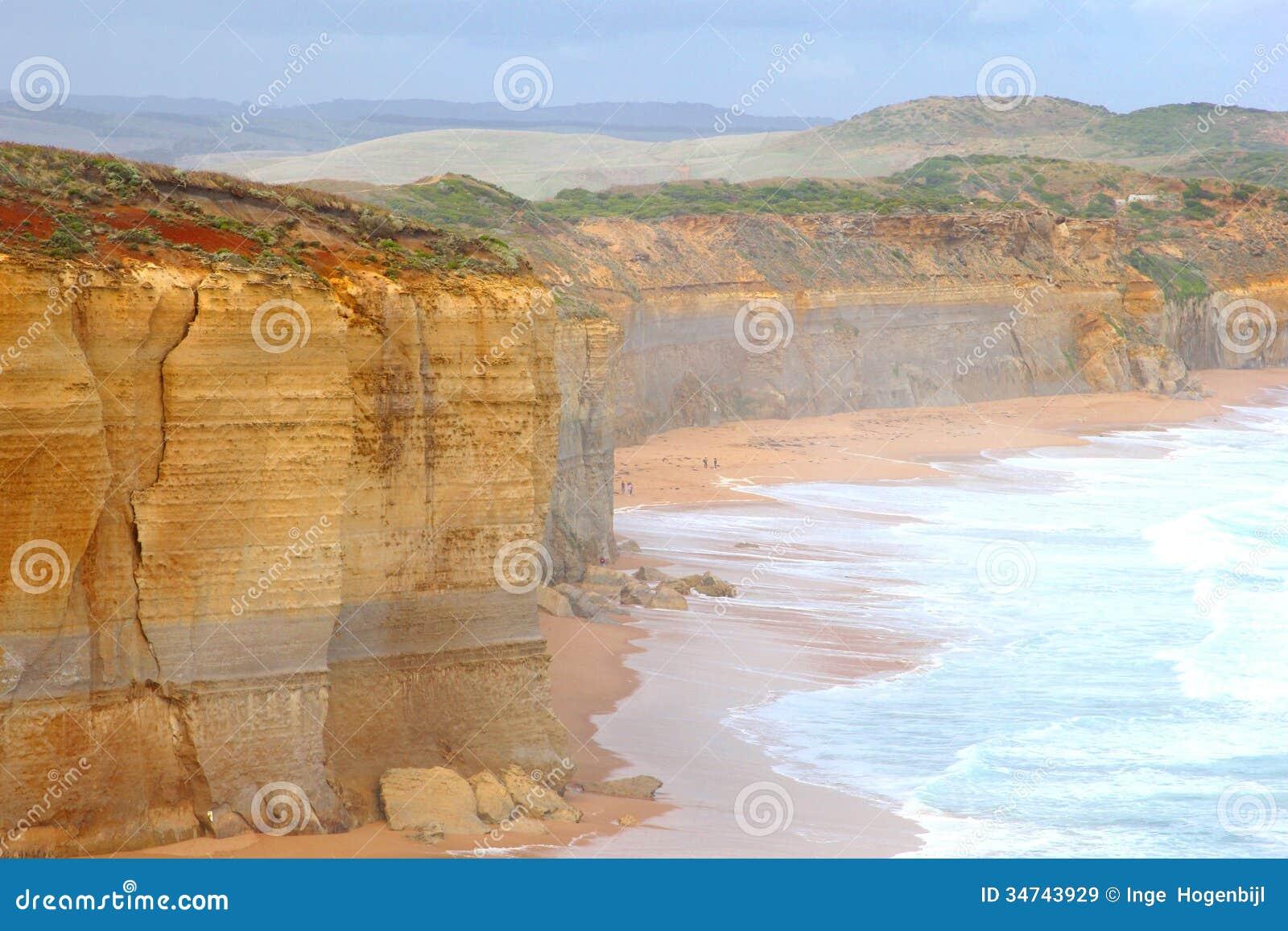 Paysage le long de la grande route d océan dans l Australie