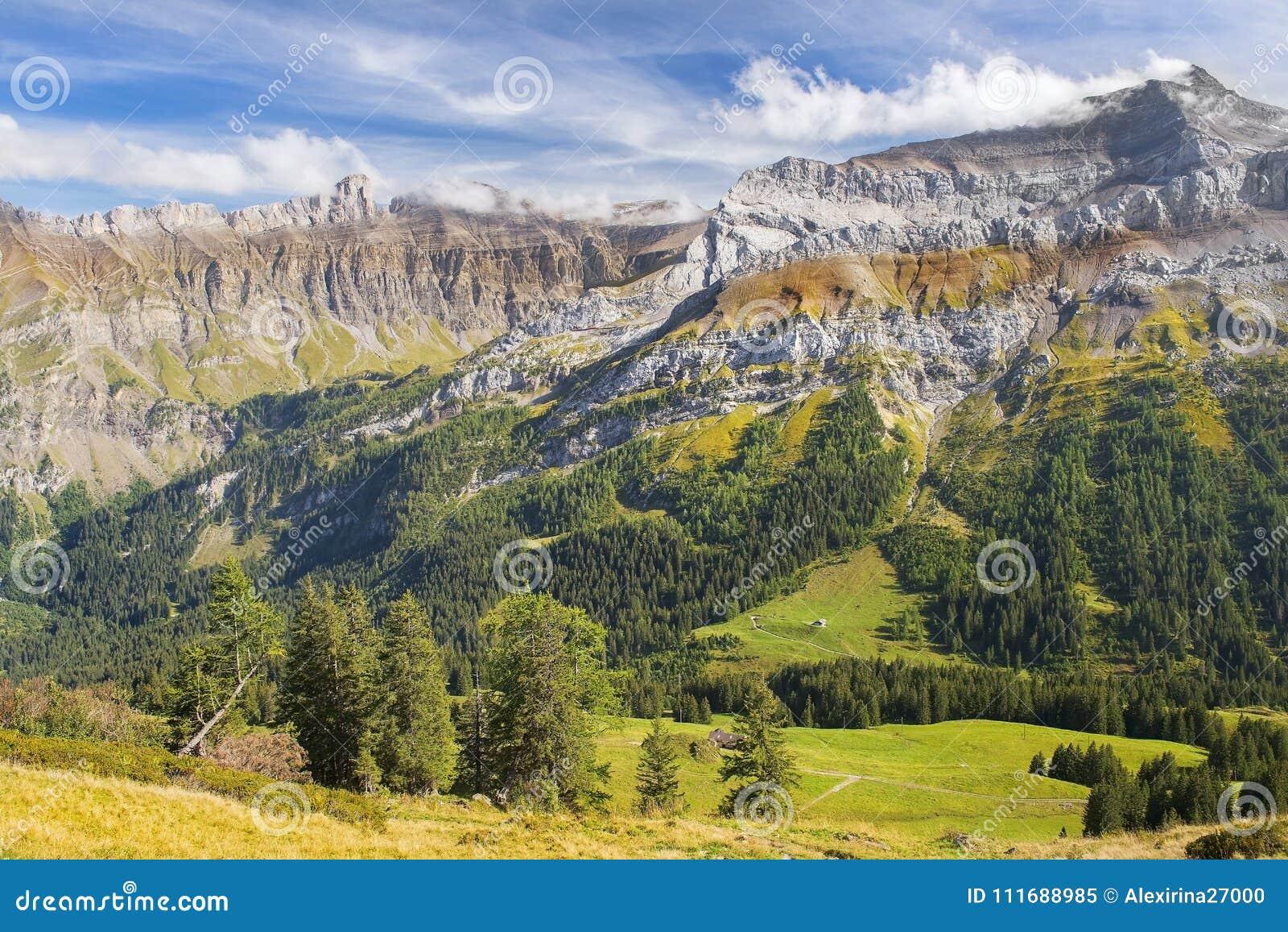 paysage magnifique de montagne en suisse image stock image du canton italie 111688985. Black Bedroom Furniture Sets. Home Design Ideas