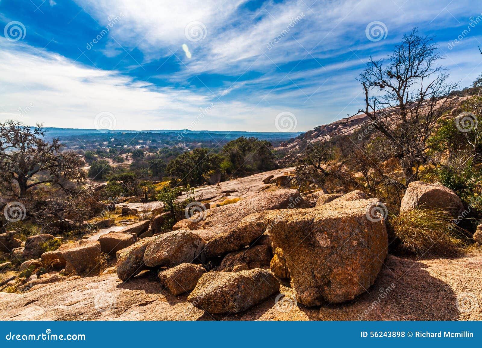 Paysage occidental de roche enchantée, le Texas