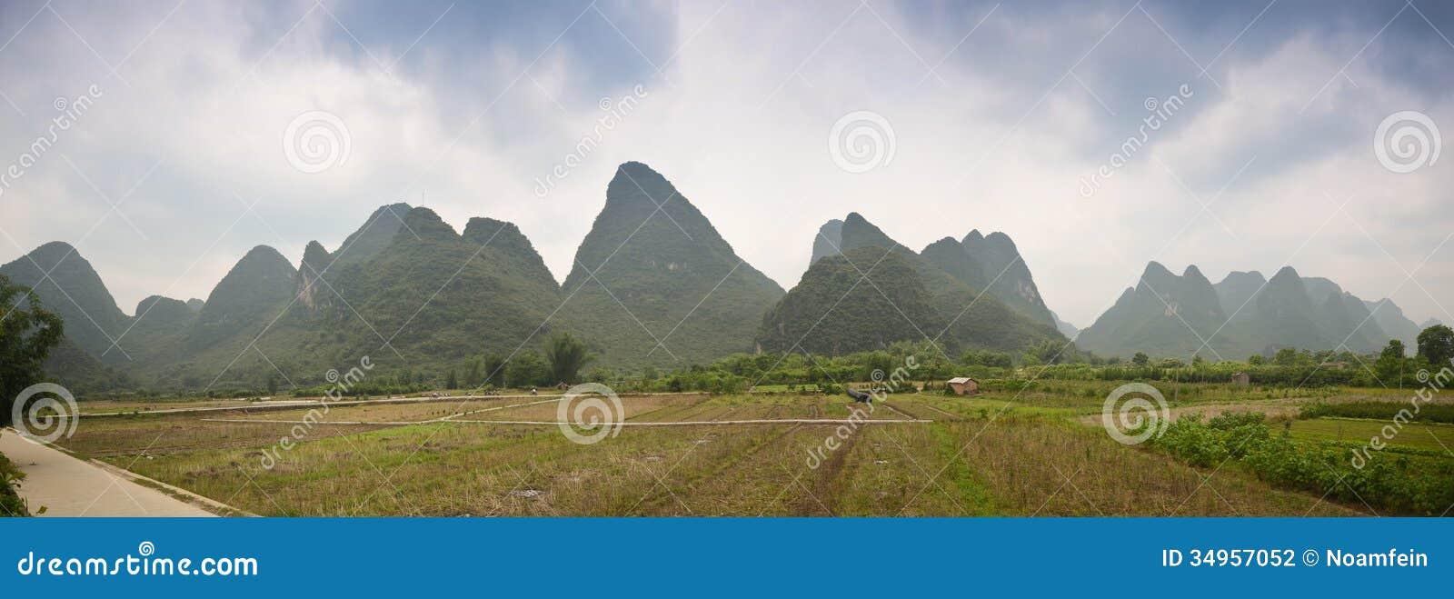 Paysage panoramique de Yangshuo