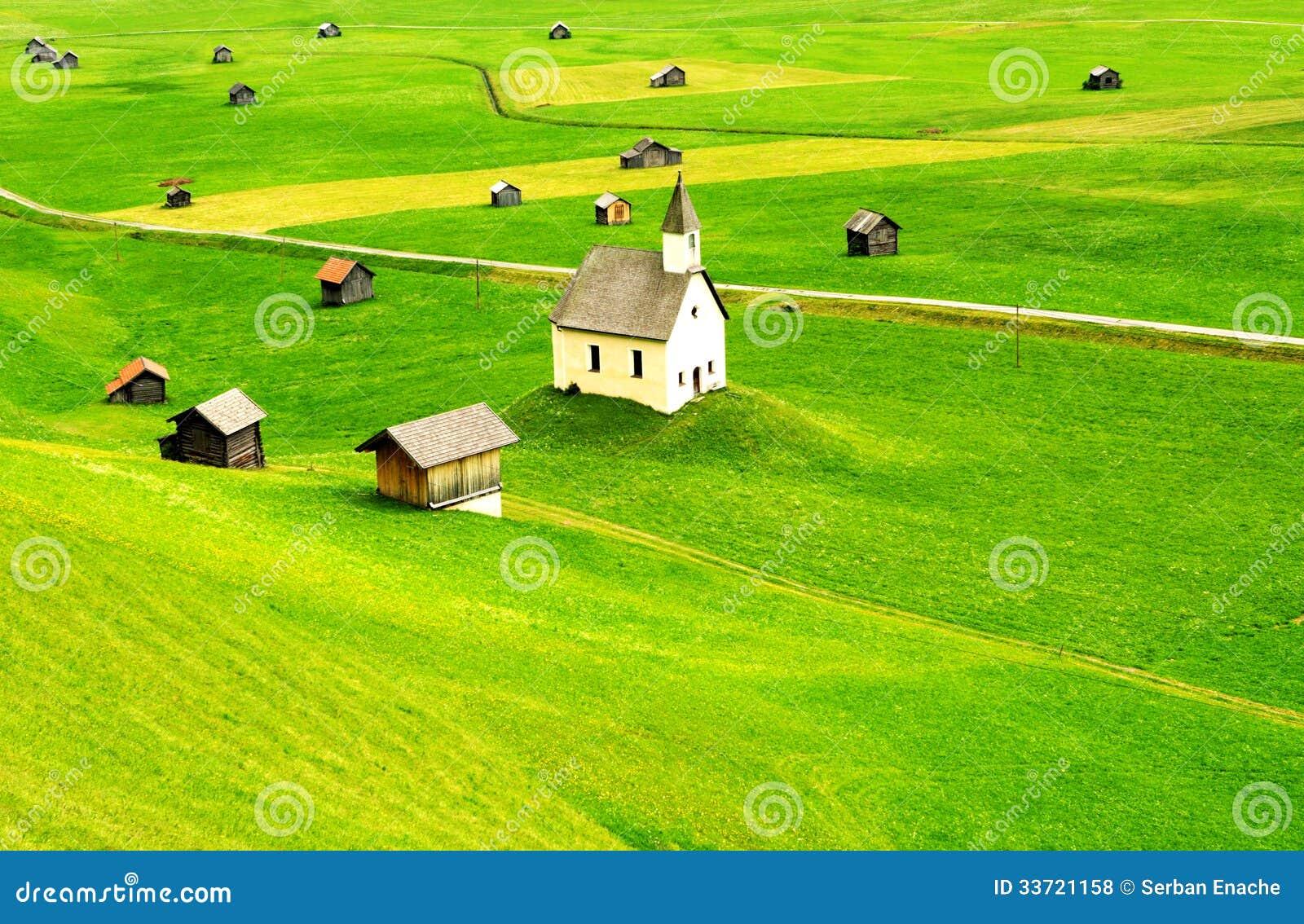 Paysage rural du Tirol