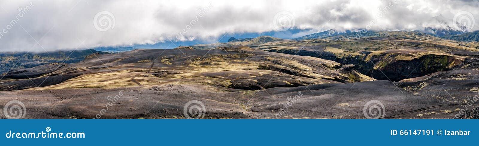 Paysage sauvage de voyage de l Islande Landmannalaugar