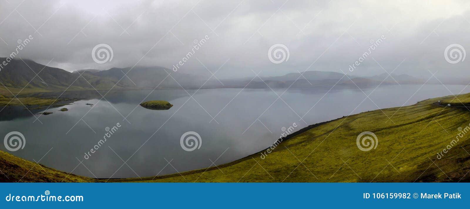 Paysage sur l île