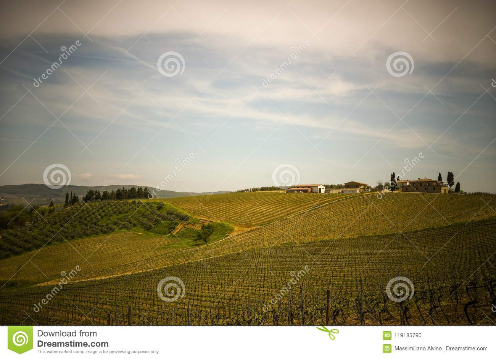 Paysage typique de la campagne toscane