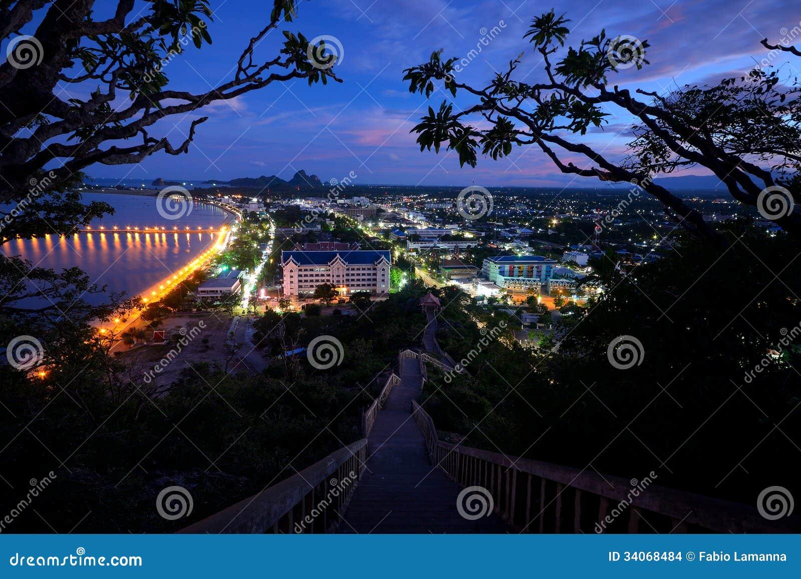Paysage urbain au crépuscule