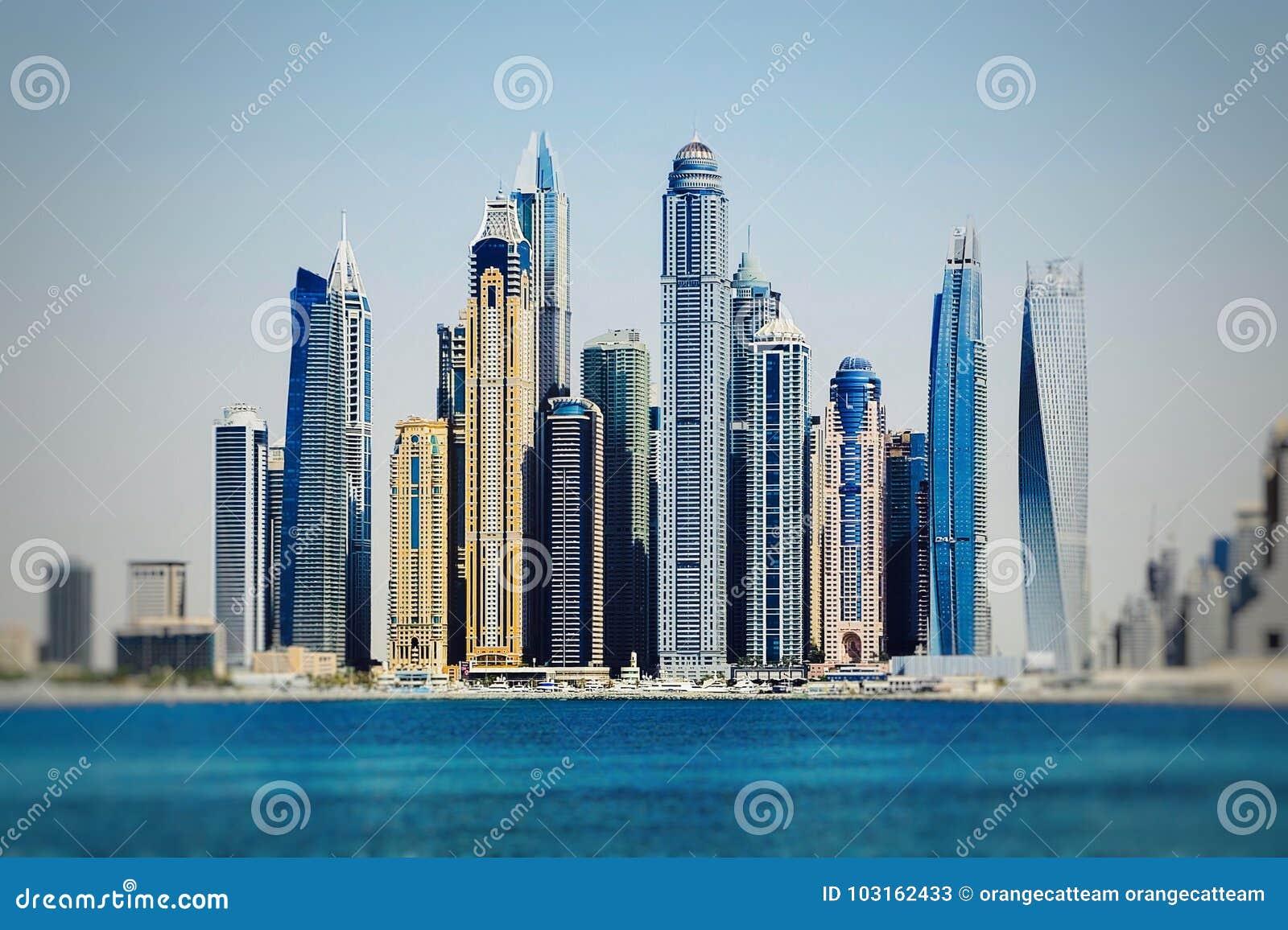Paysage urbain aux Emirats Arabes Unis