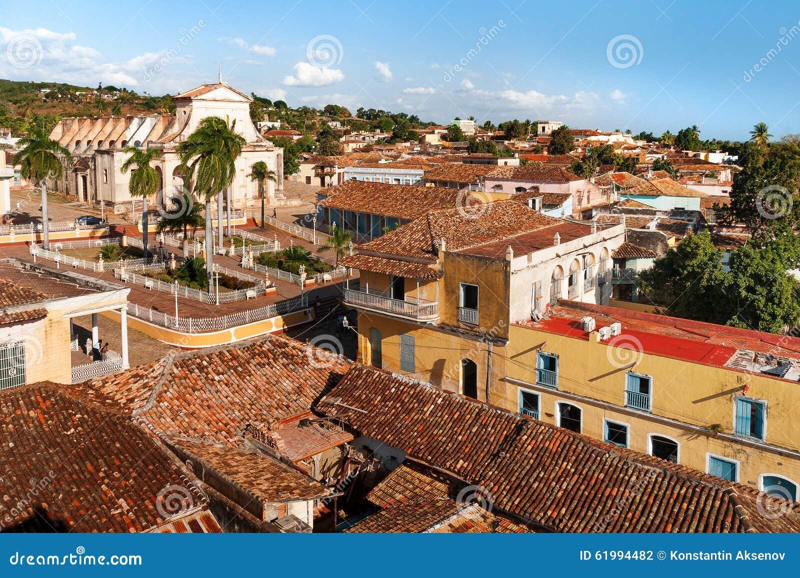 Paysage urbain colonial de ville du trinidad cuba for Paysage de ville