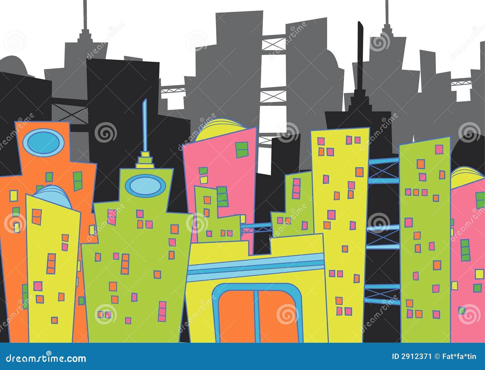 Paysage urbain d amusement