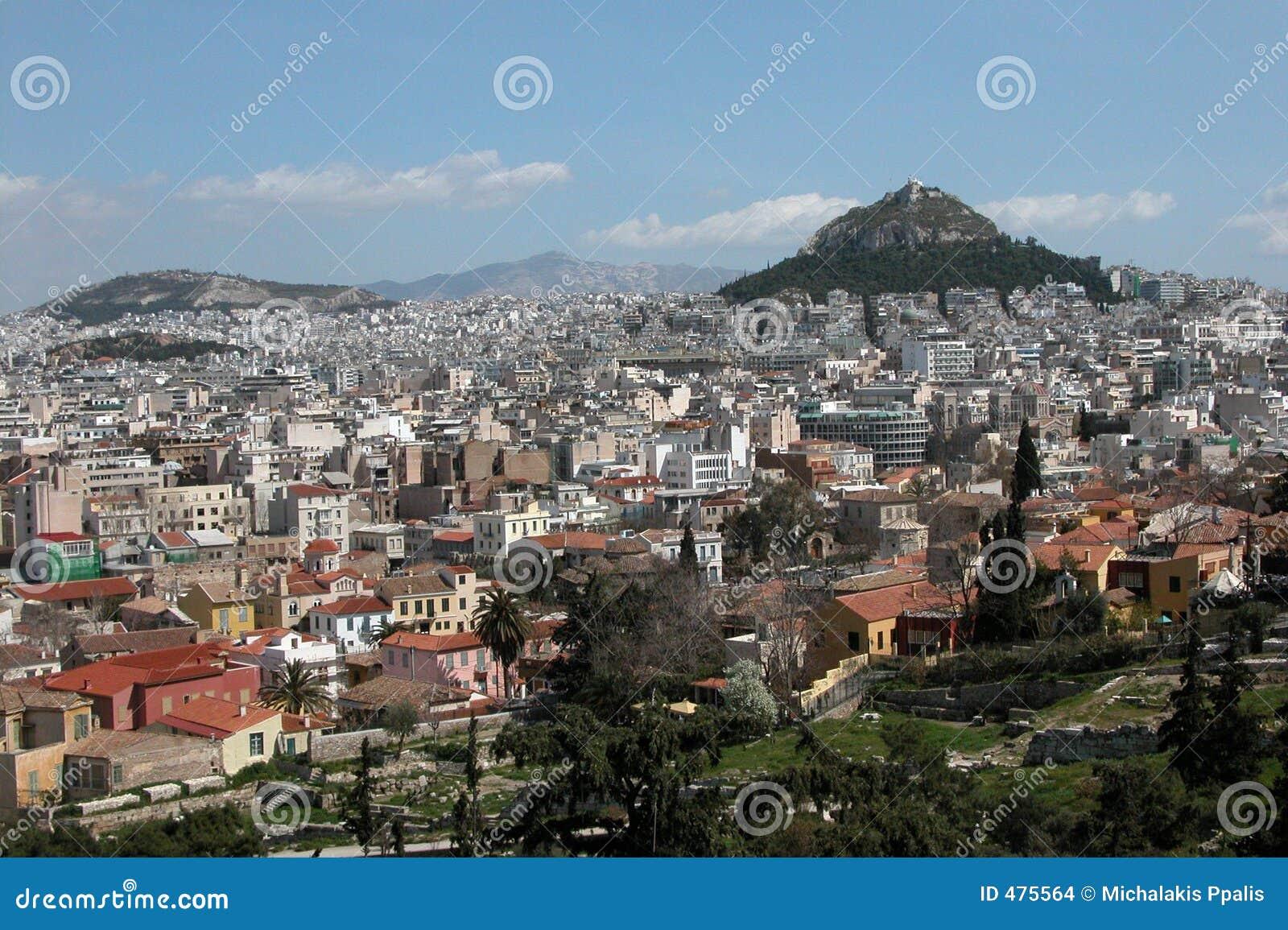 Paysage urbain d Athènes