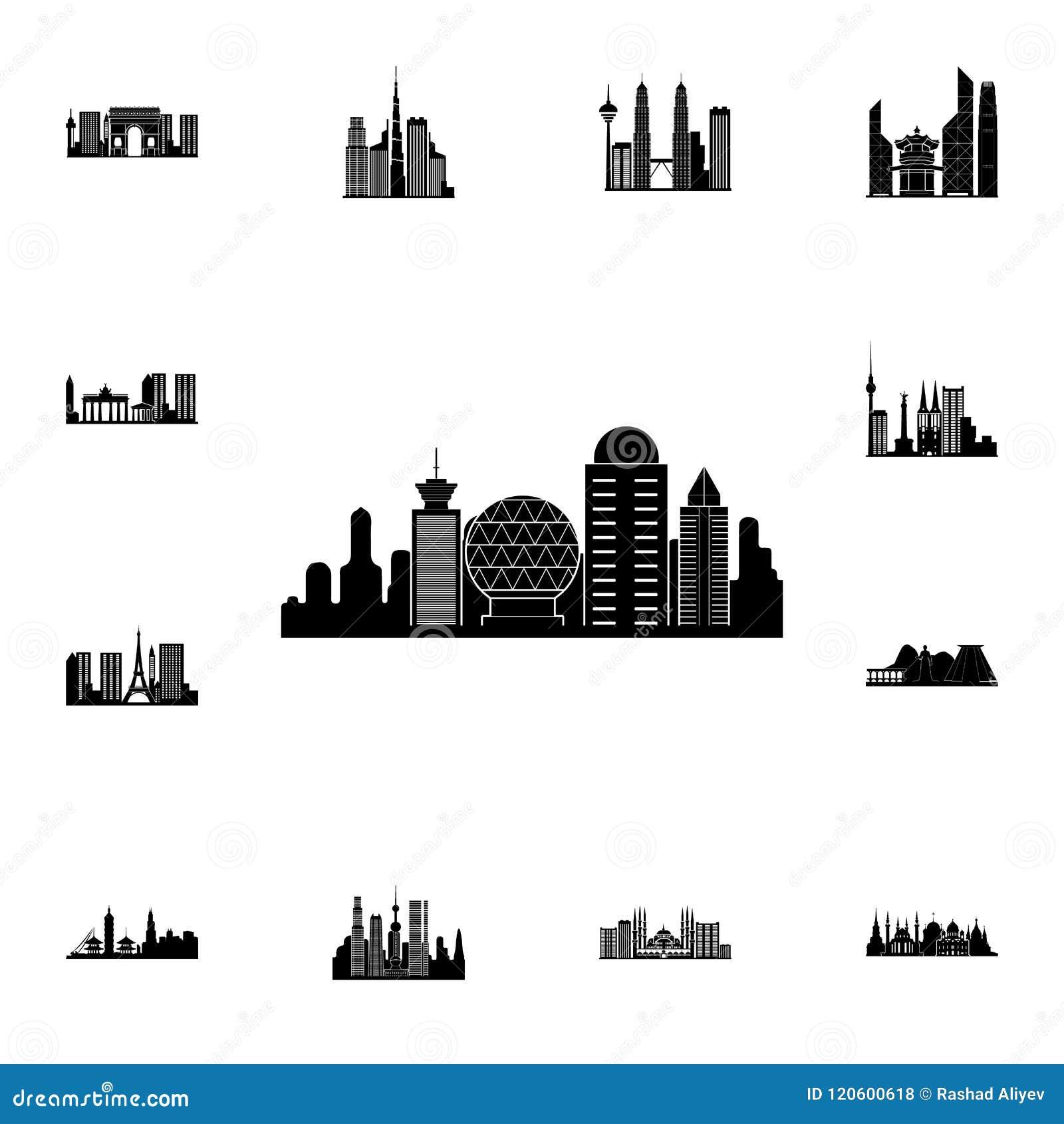 Paysage urbain d icône de Rome Ensemble détaillé d icônes de paysage urbain Signe de la meilleure qualité de conception graphique