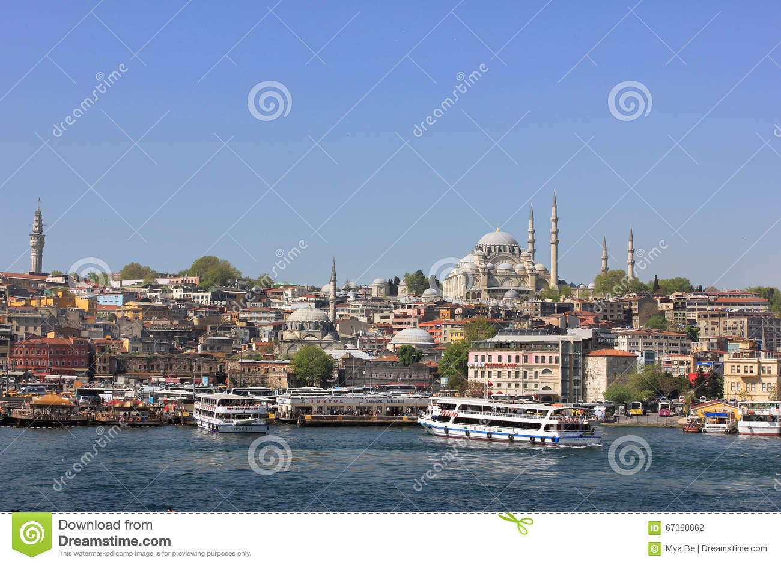 Paysage urbain d Istanbul, Turquie