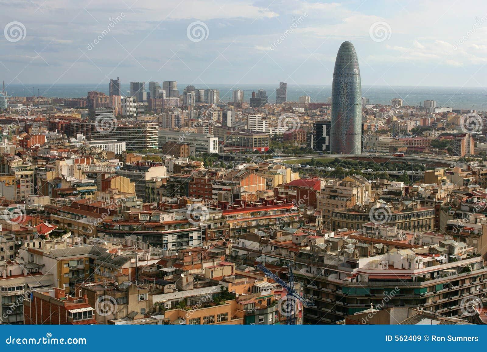 Paysage urbain de barcelone images libres de droits for Paysage de ville