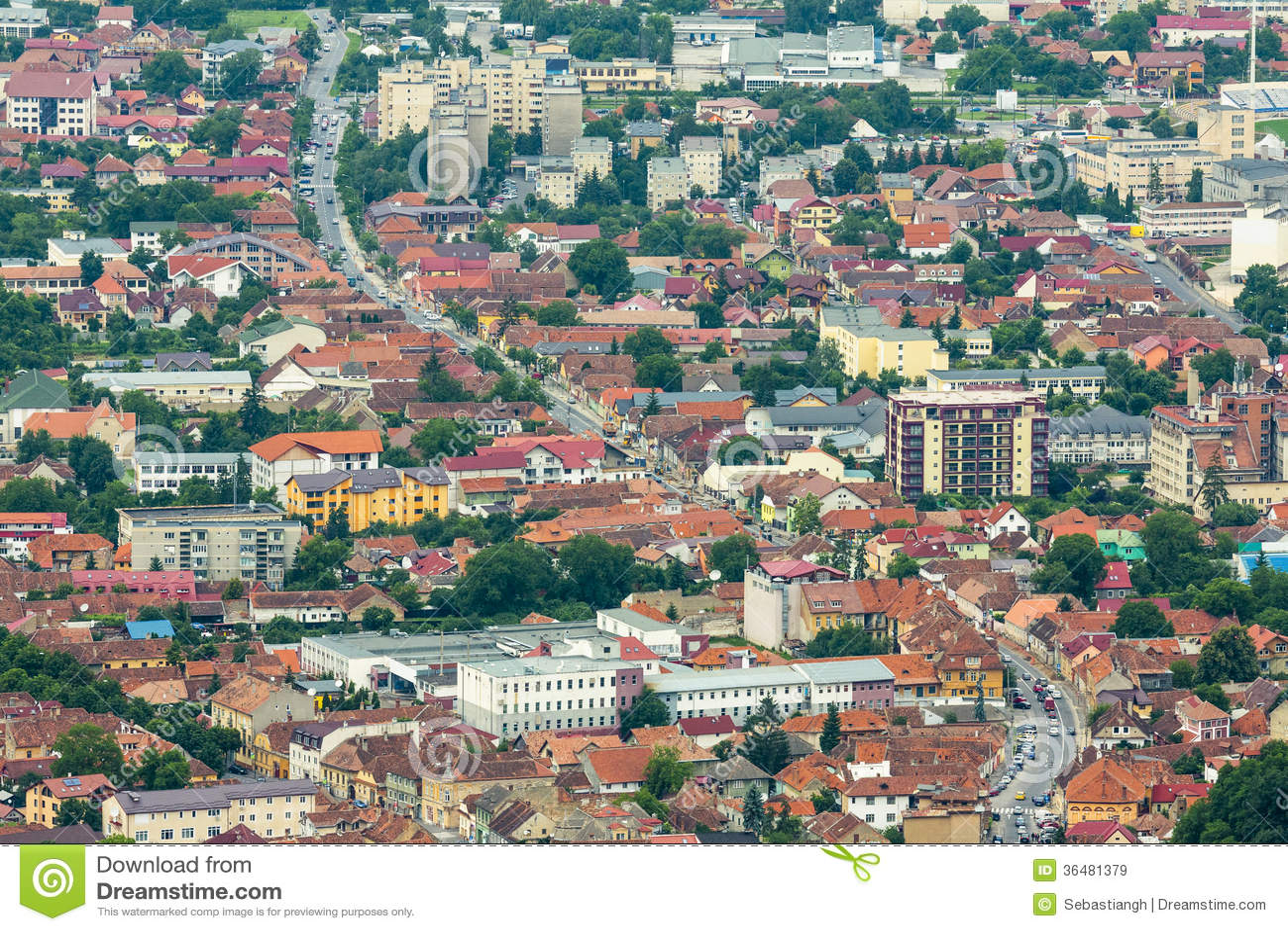 Paysage urbain de brasov roumanie images libres de droits for Paysage de ville