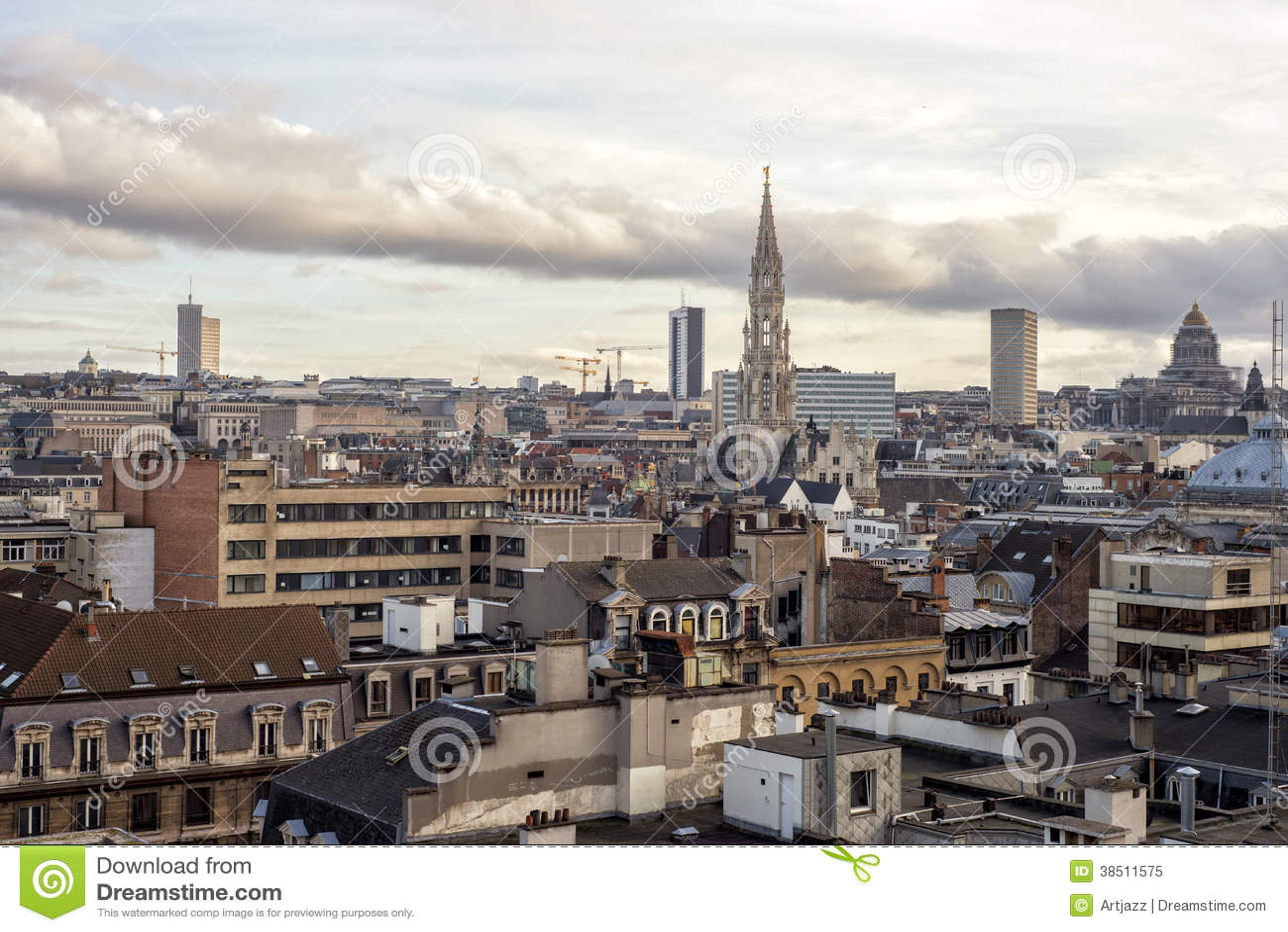 Paysage urbain de bruxelles belgique image stock image for Paysage de ville