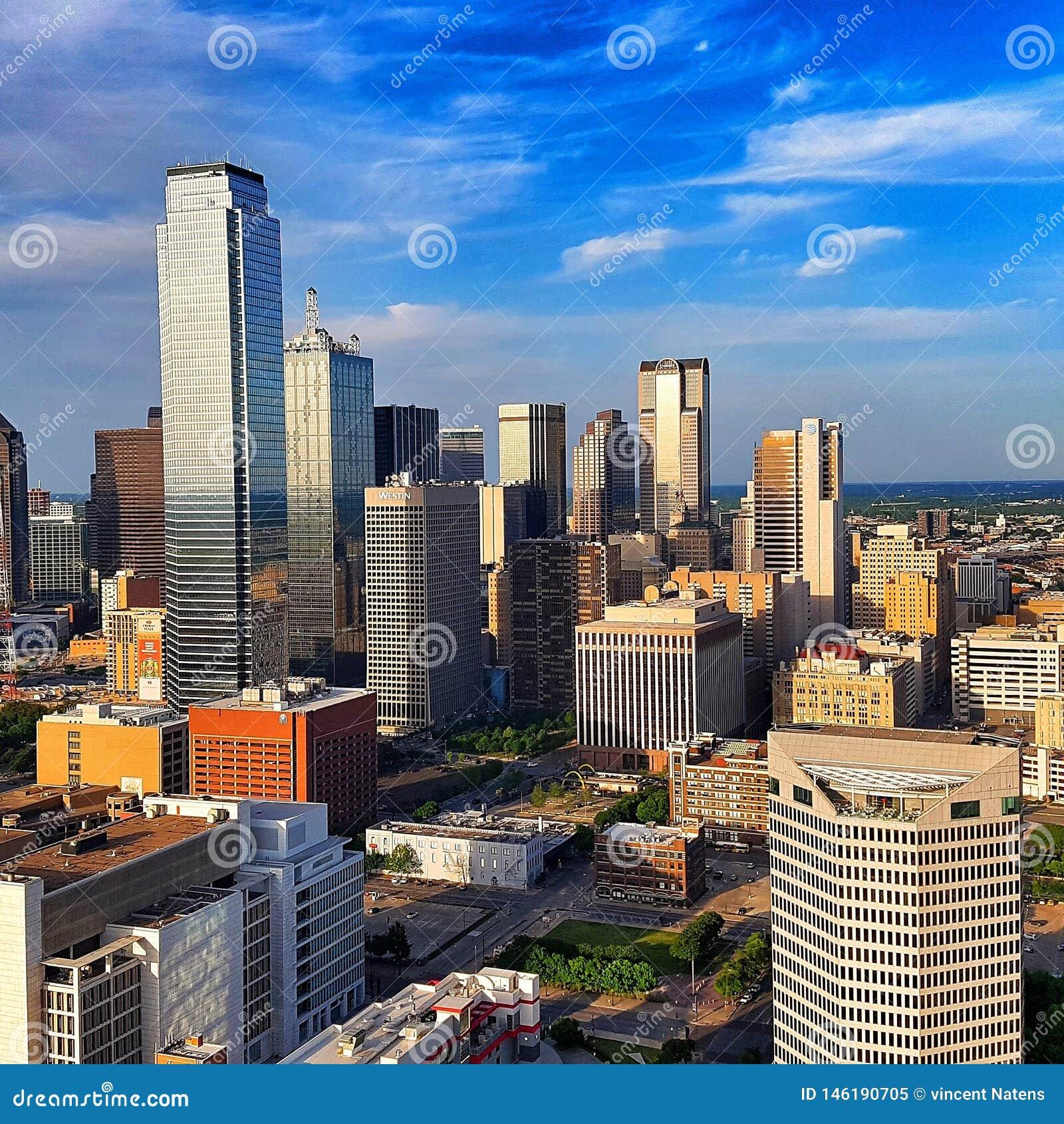 Paysage urbain de Dallas de tour de la Réunion