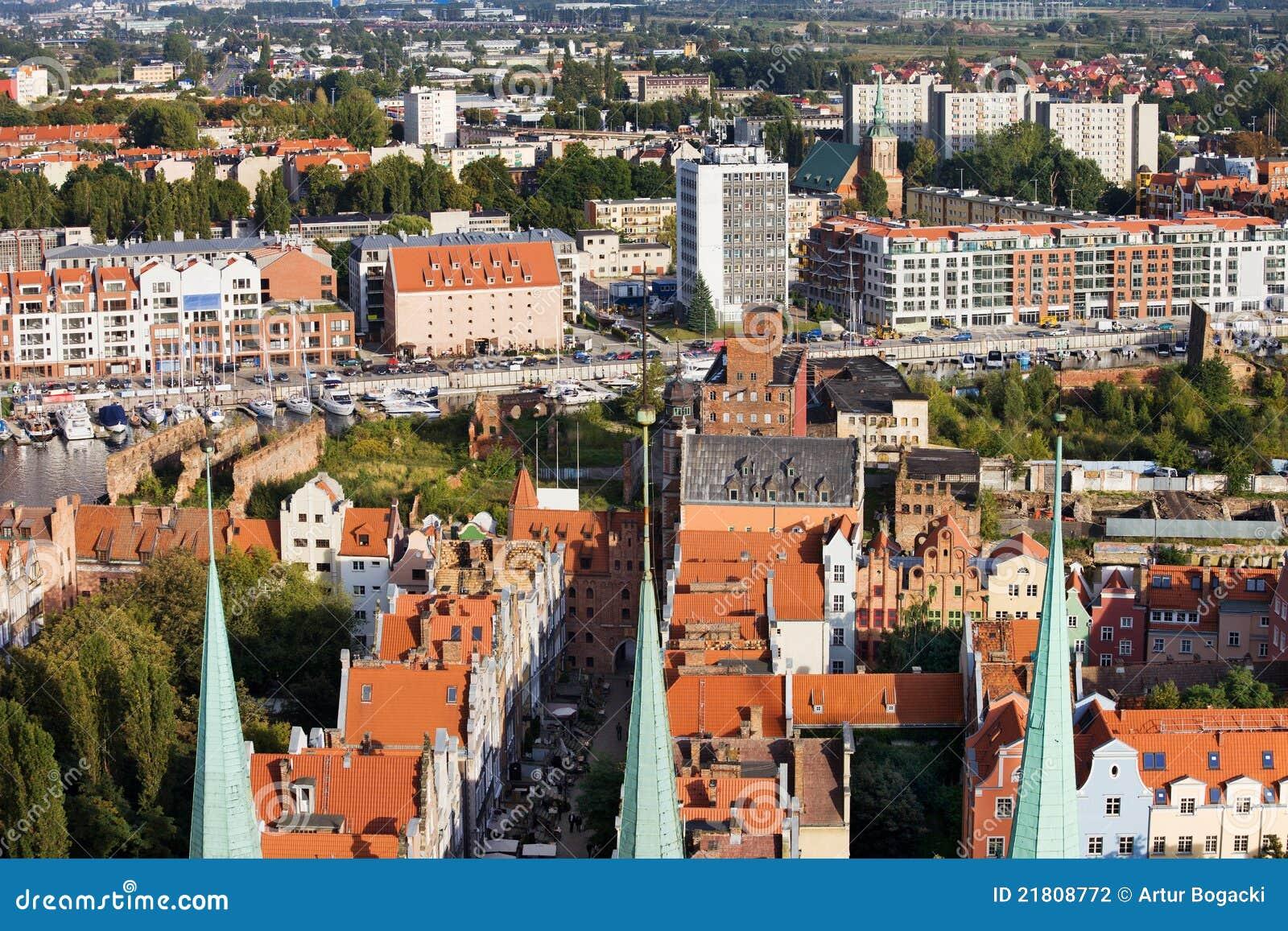 Paysage urbain de Danzig