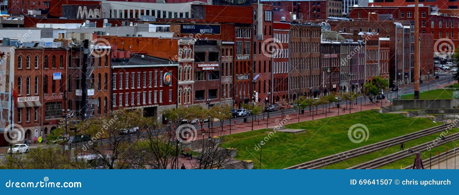 Paysage urbain de façade d une rivière de Nashville