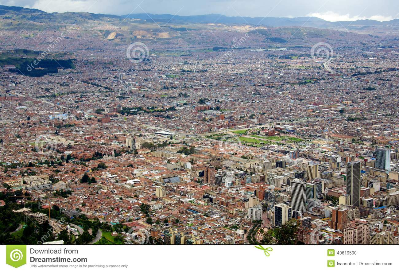 Paysage urbain de la ville de bogota colombie photo stock for Paysage de ville