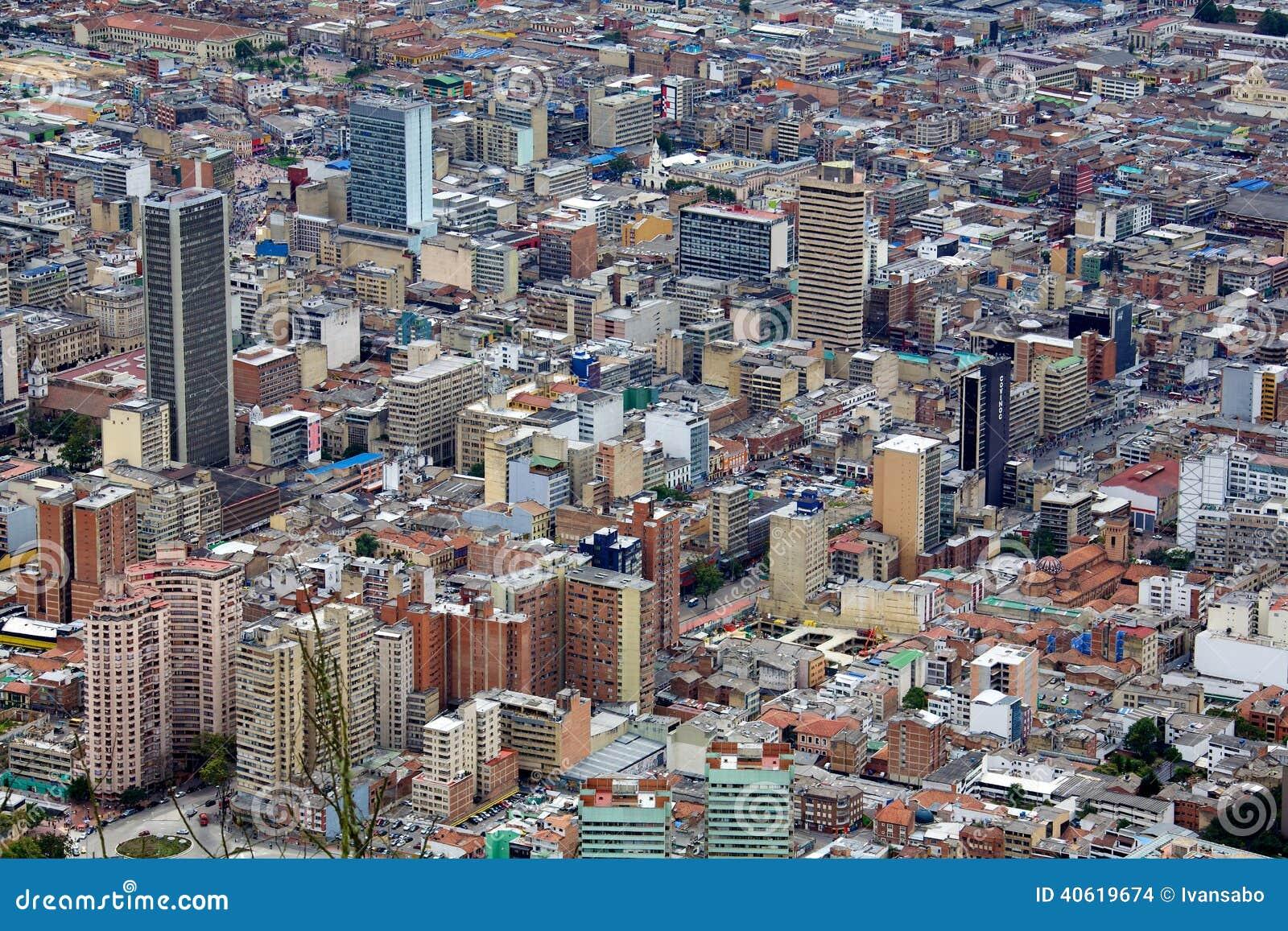 Paysage urbain de la ville de bogota colombie image stock for Paysage de ville