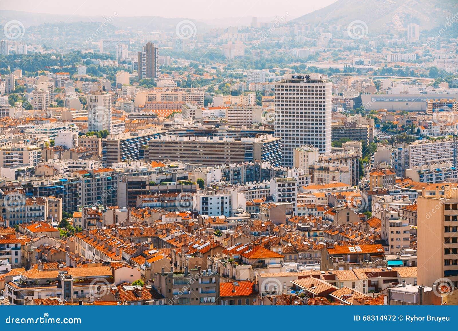Paysage urbain de marseille france fond urbain for Agence de paysage marseille