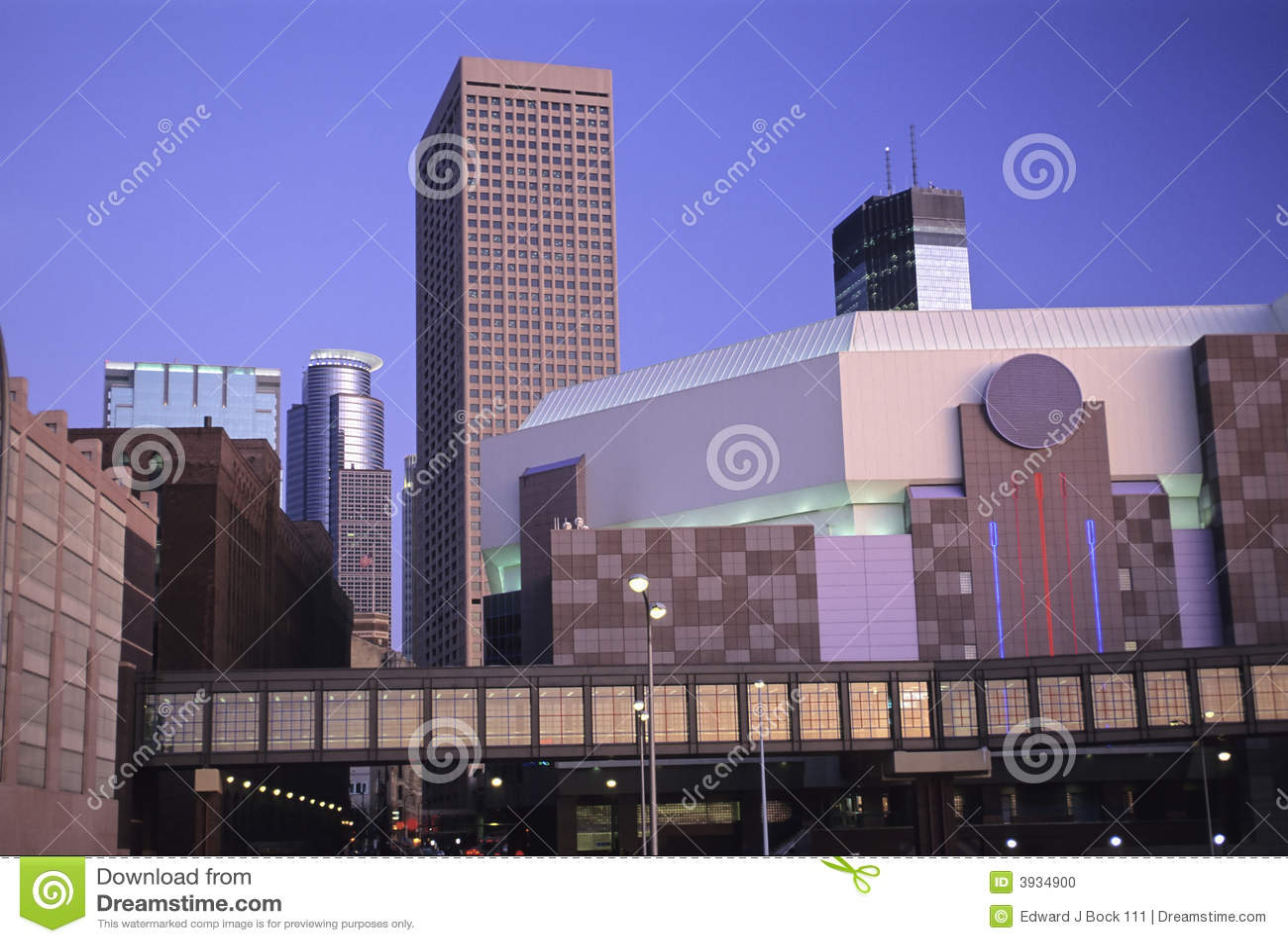 Paysage urbain de Minneapolis