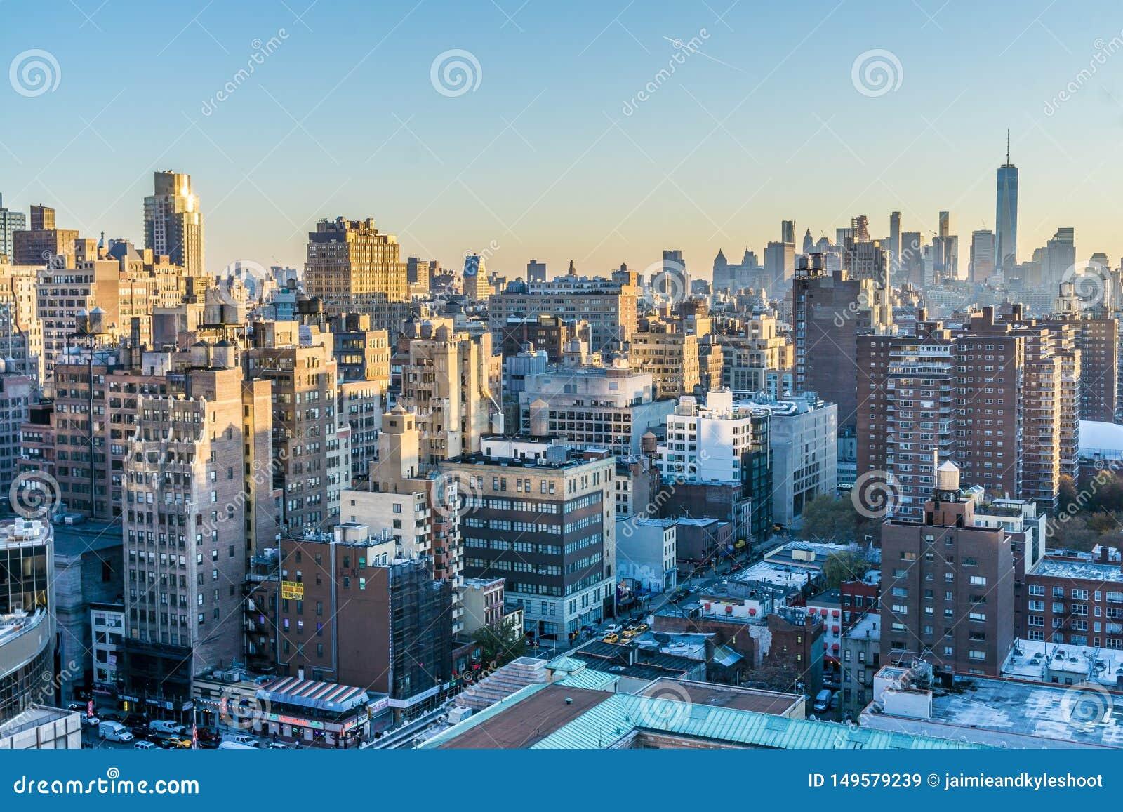 Paysage urbain de New York ? l aube
