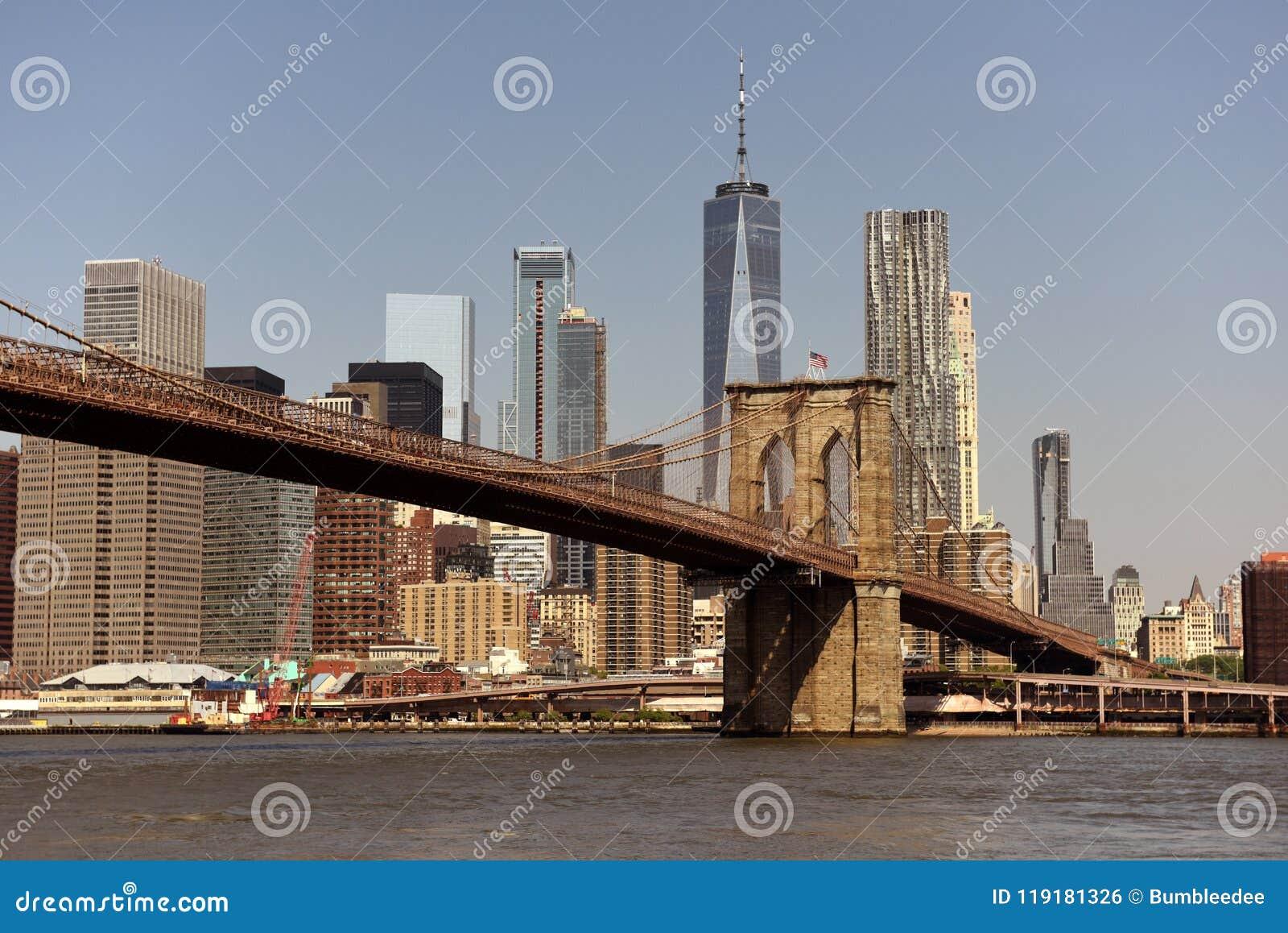 Paysage urbain de New York New York City, secteur financier en M inférieur