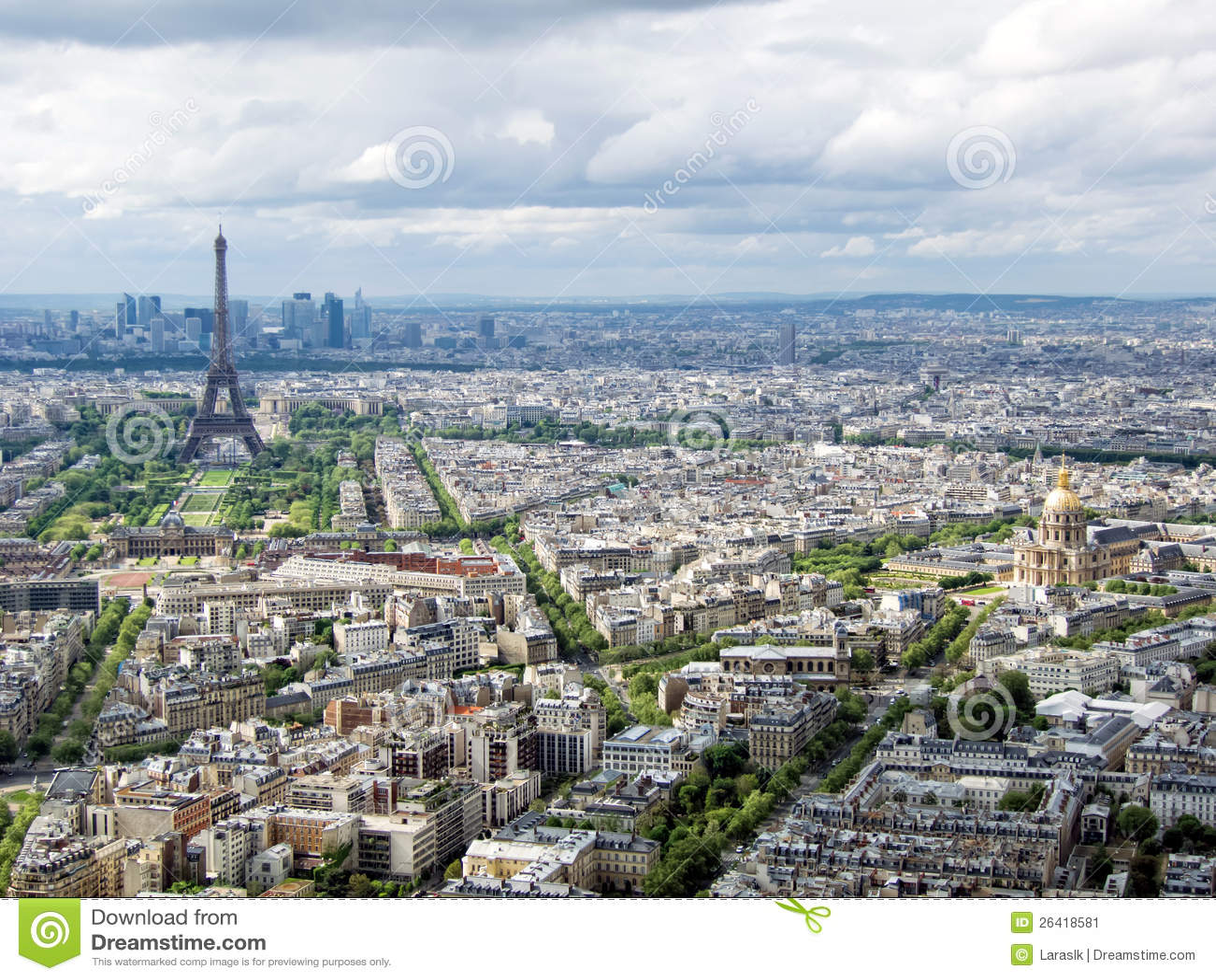 Paysage urbain de paris image stock image 26418581 for Paris paysage